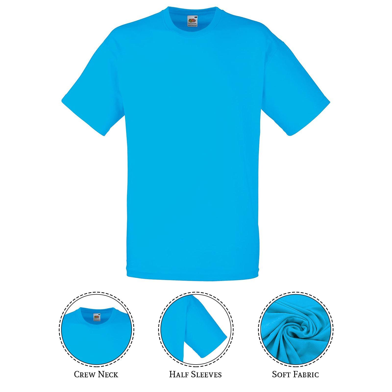 thumbnail 43 - Men-s-Fruit-Of-The-Loom-T-Shirt-Original-100-Cotton-Casual-Plain-Top-Tee