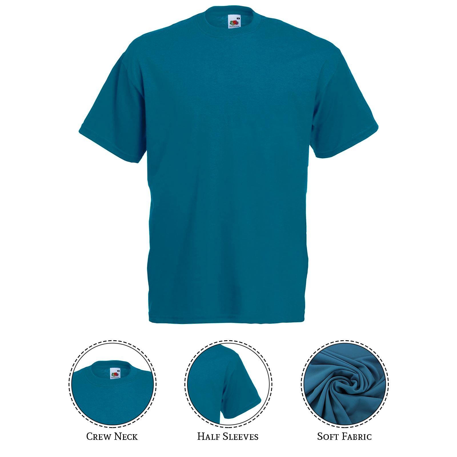 thumbnail 31 - Men-s-Fruit-Of-The-Loom-T-Shirt-Original-100-Cotton-Casual-Plain-Top-Tee