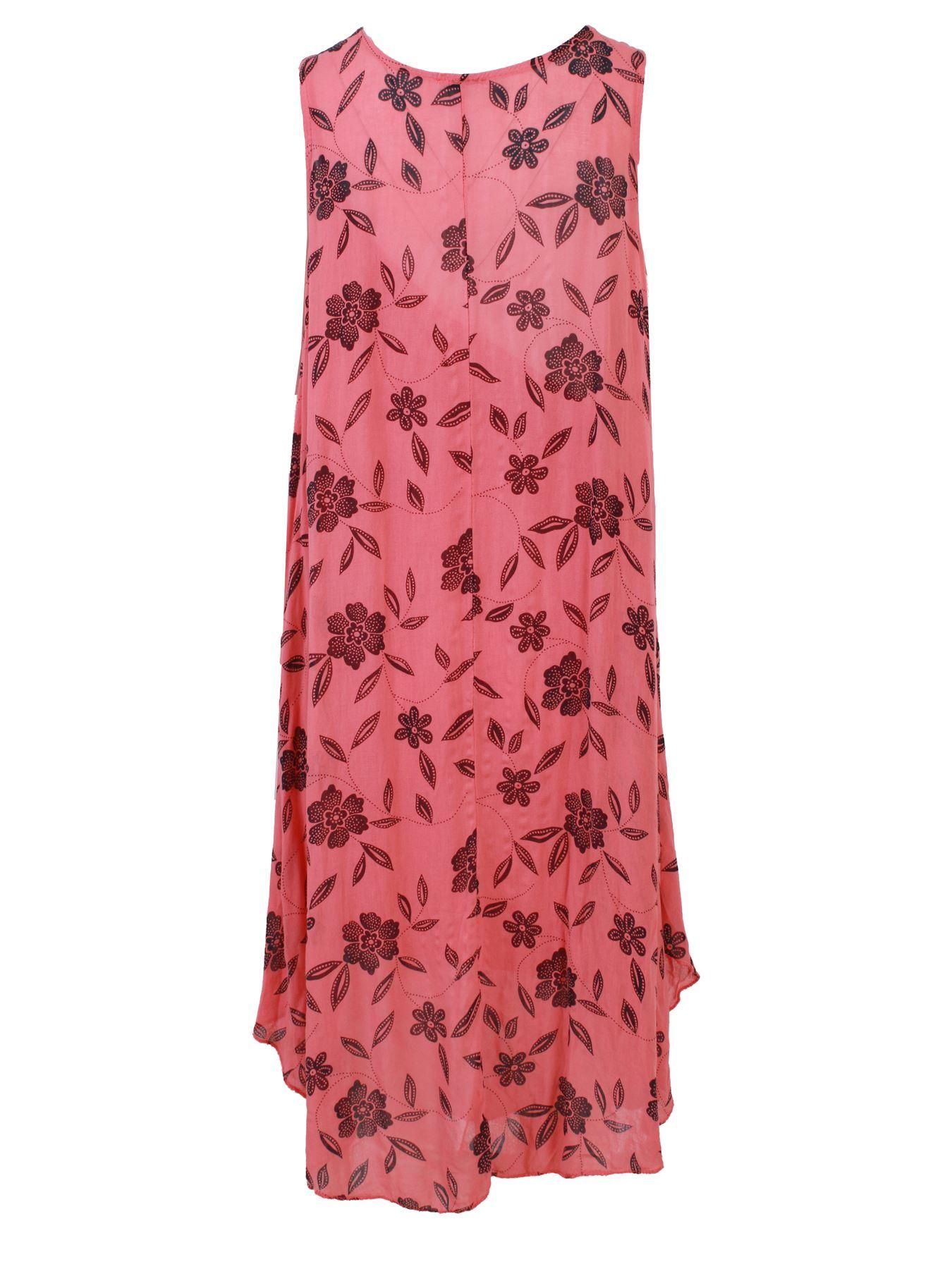 Damen Dot Print Italienisch Mode Lagenlook Sommer Baumwolle Causal Kleider