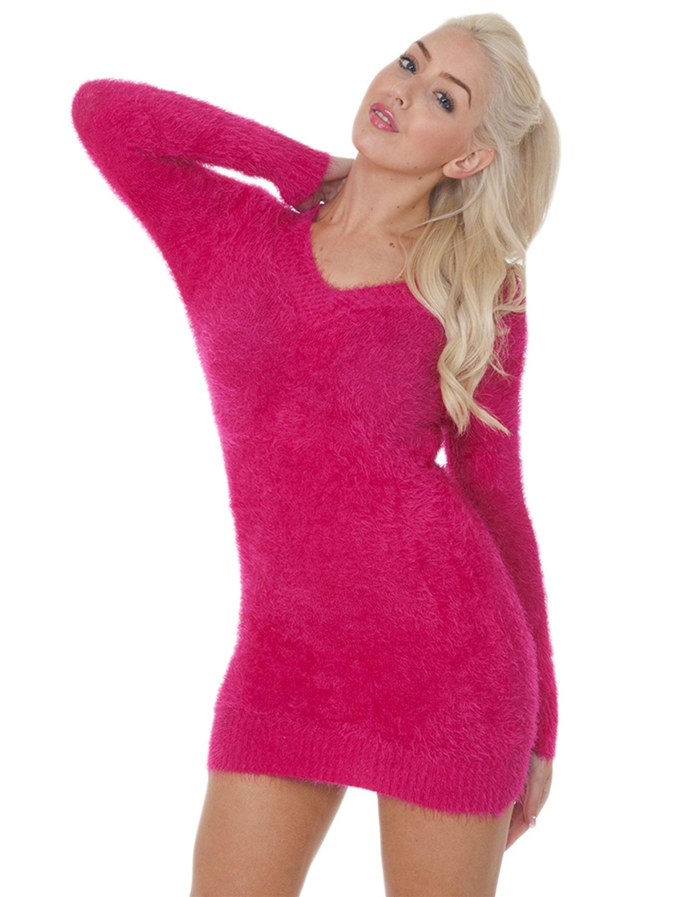 Pull-Femme-Femmes-Tricote-Cardigans-Plain-Tricot-Moelleux-Col-V-Manches-Longues miniature 16