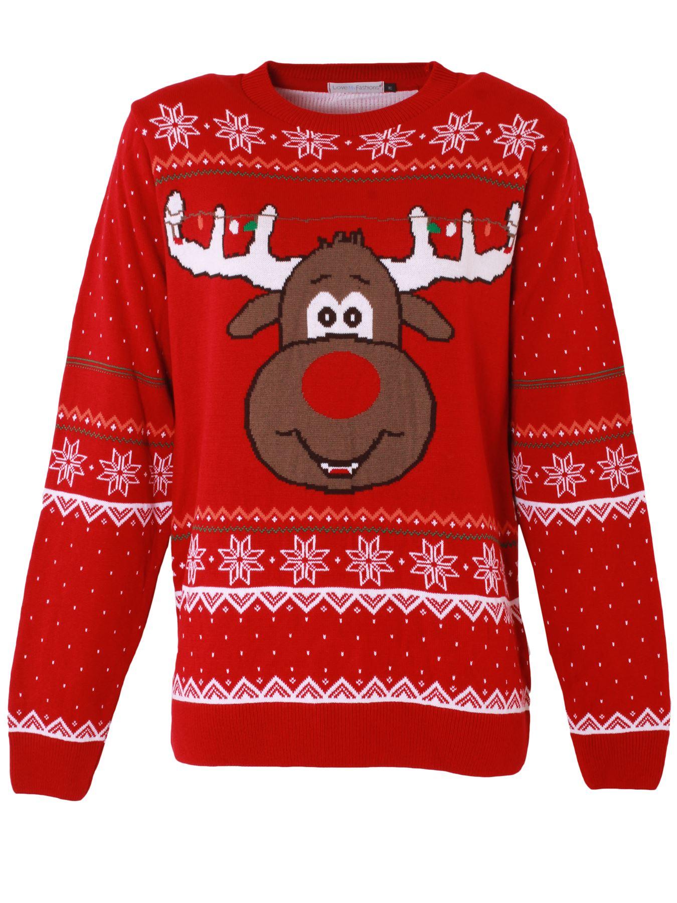 Unisex-Christmas-Jumper-Girls-Boys-Reindeer-Snow-Flake-Knitted-Pullover-Sweater thumbnail 6