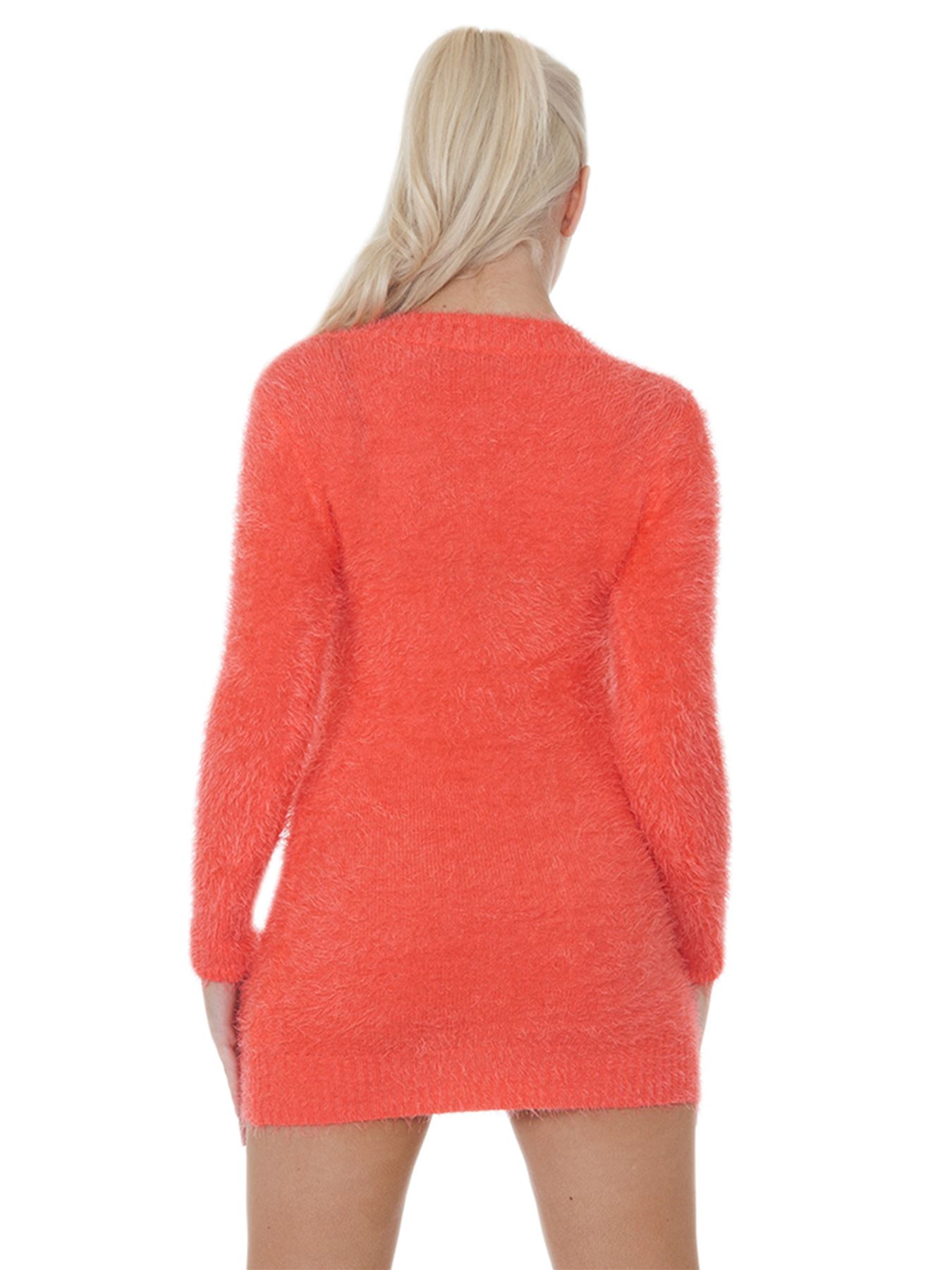 Pull-Femme-Femmes-Tricote-Cardigans-Plain-Tricot-Moelleux-Col-V-Manches-Longues miniature 14