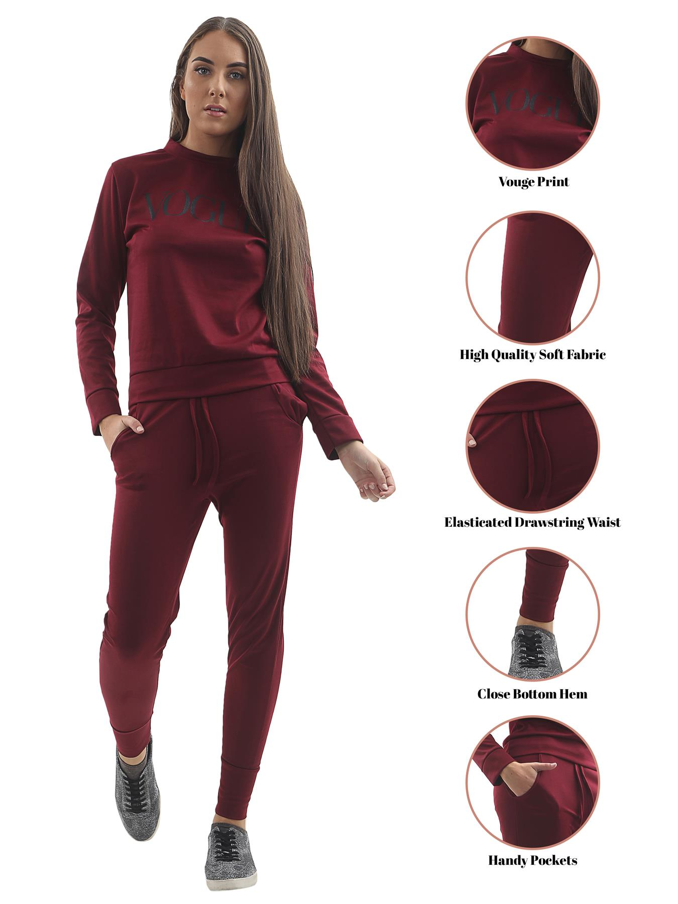 Womens Plus Size Ladies Abstract Print Two Piece Set Lounge Wear Tracksuit