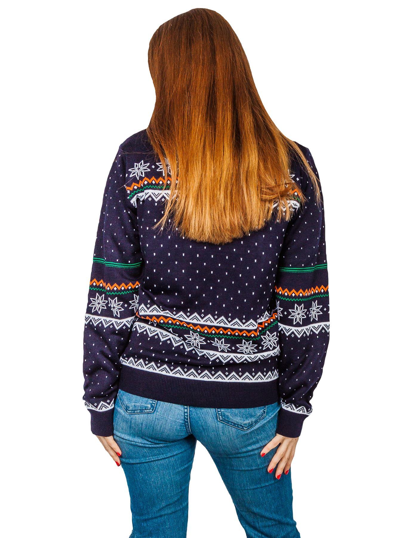 Unisex-Christmas-Jumper-Girls-Boys-Reindeer-Snow-Flake-Knitted-Pullover-Sweater thumbnail 5