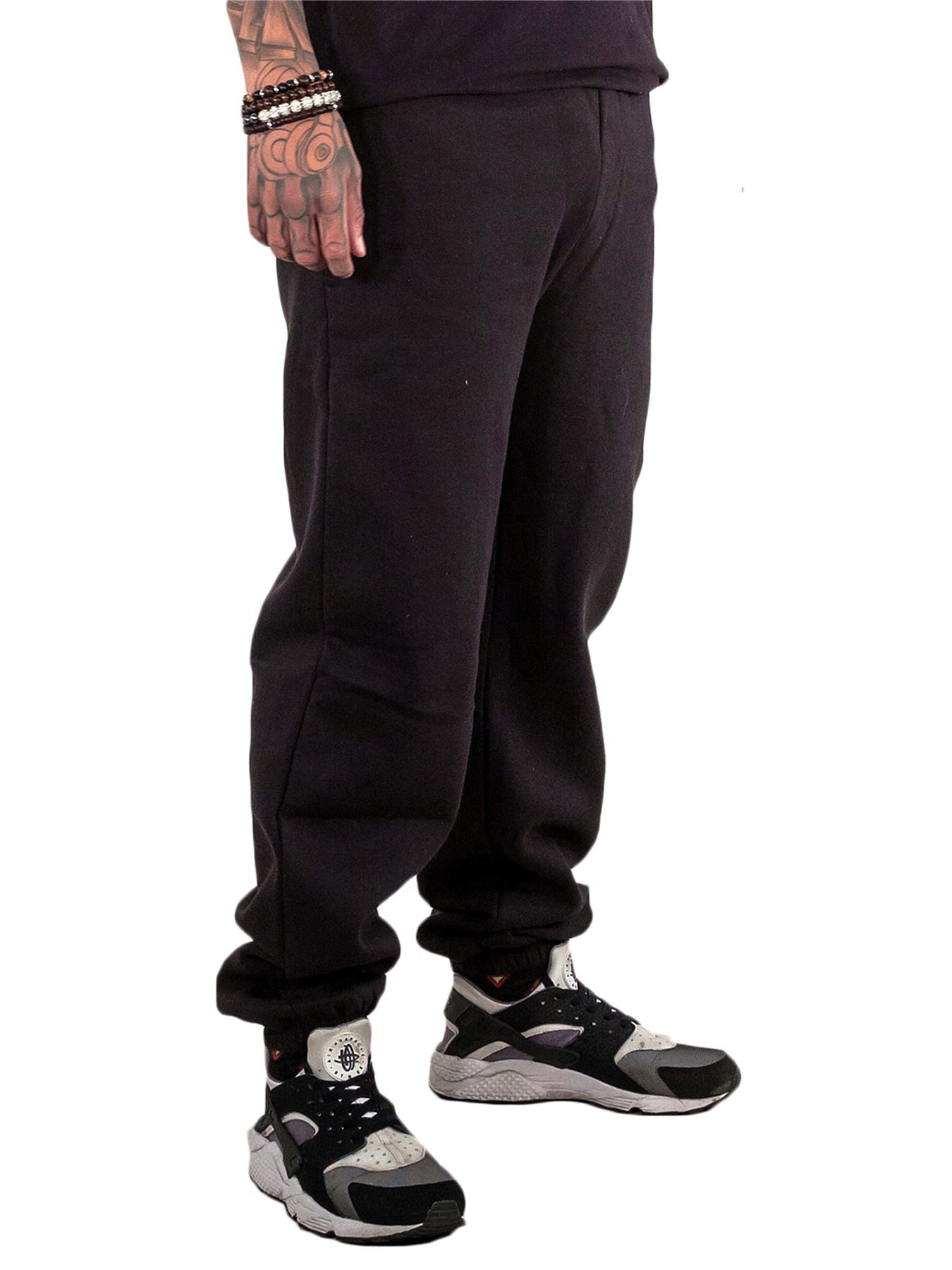 Mens-Fleece-Ribbed-Joggers-Tracksuit-Jogging-Bottom-Loose-Fit-Sweat-Pants-S-5XL thumbnail 3