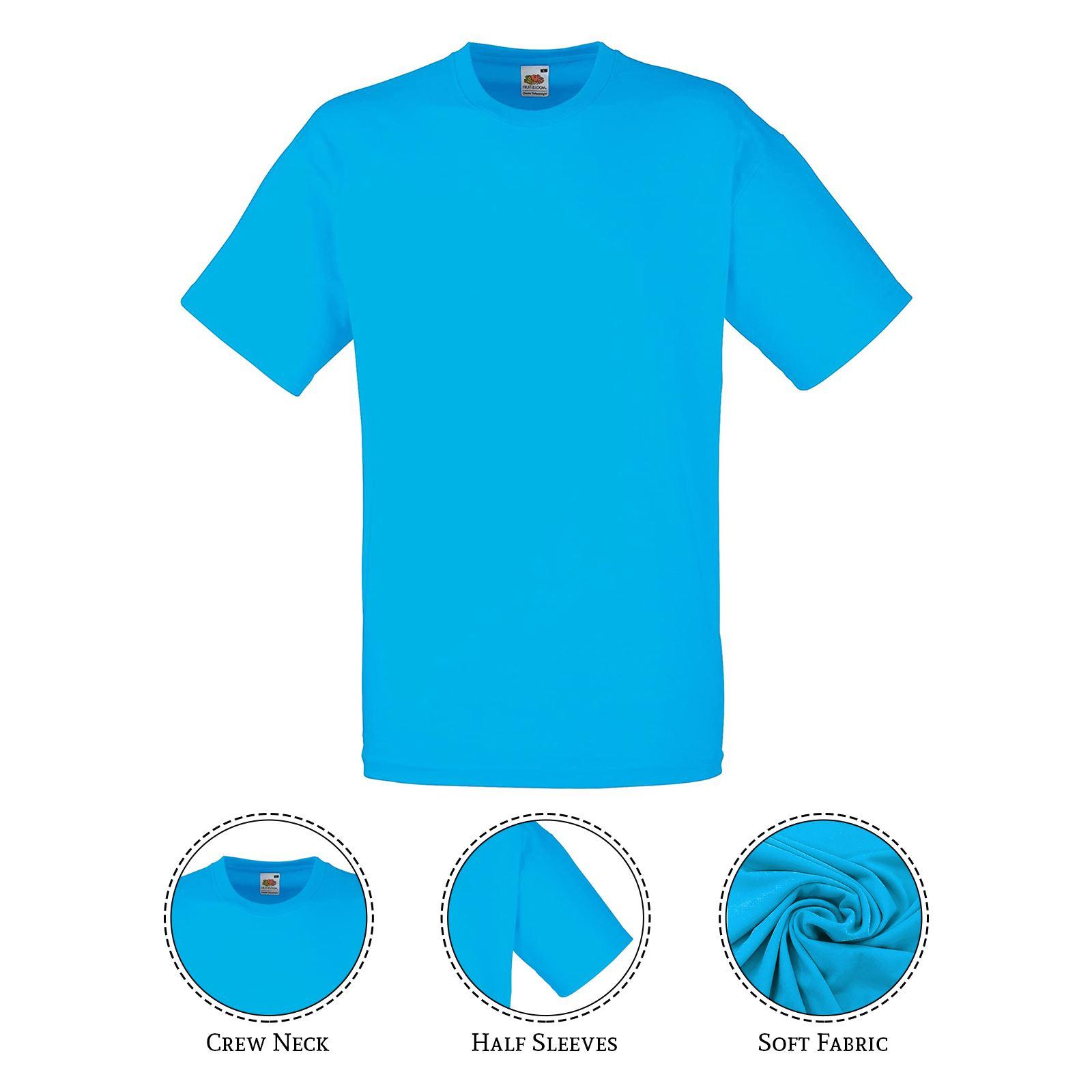 thumbnail 5 - Men-s-Fruit-Of-The-Loom-T-Shirt-Original-100-Cotton-Casual-Plain-Top-Tee