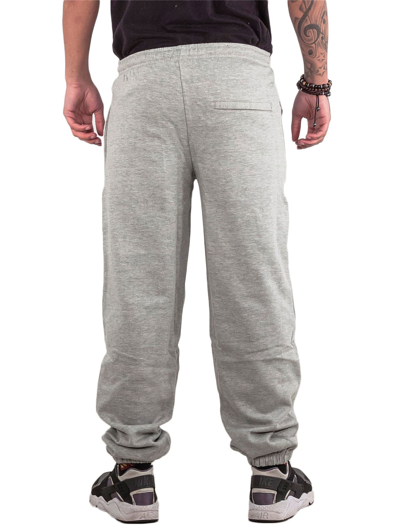Mens-Fleece-Ribbed-Joggers-Tracksuit-Jogging-Bottom-Loose-Fit-Sweat-Pants-S-5XL thumbnail 8