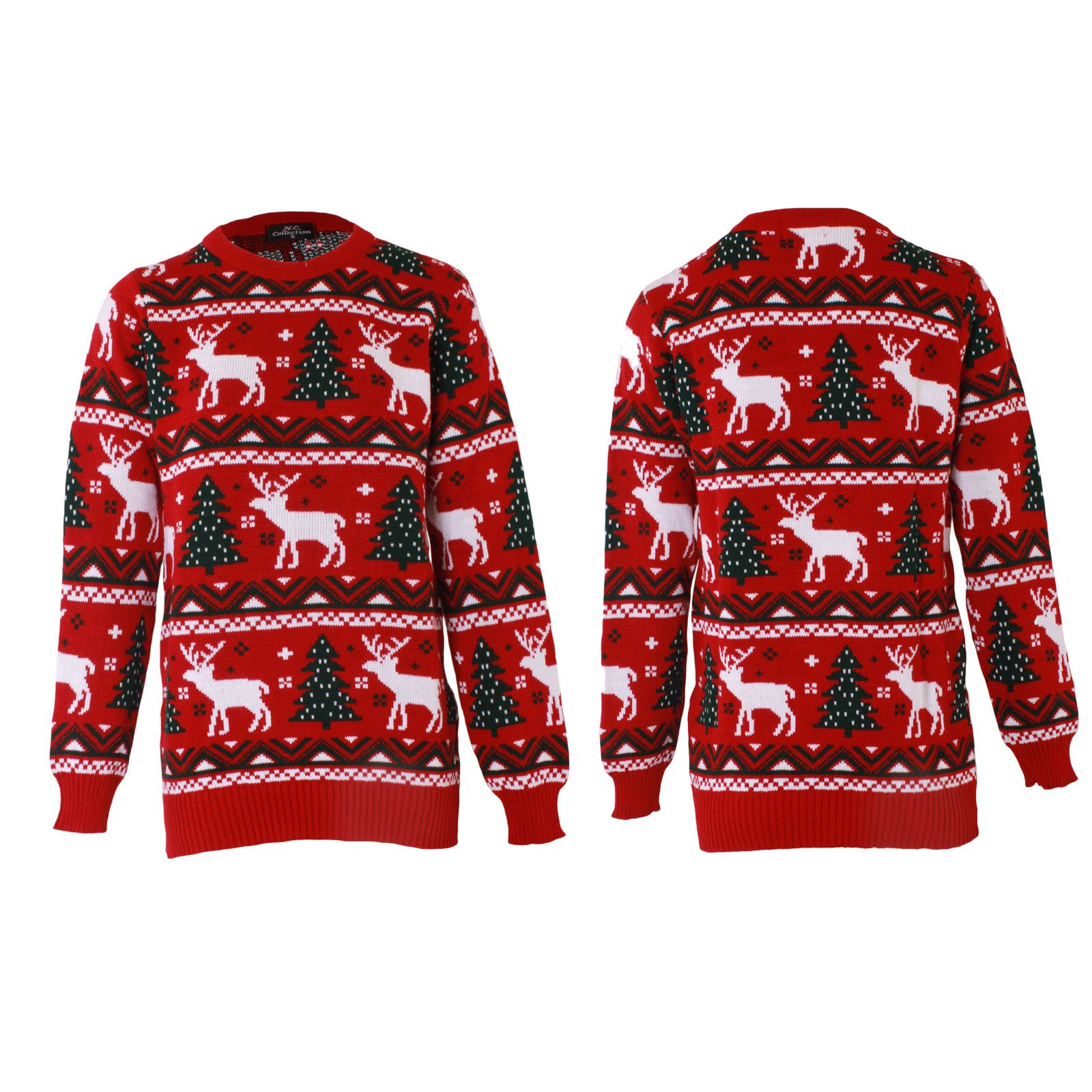 787e3c6053fb Details about Unisex Christmas Jumper Womens Cardigan Xmas Knitted Reindeer  Aztec Long Sleeves
