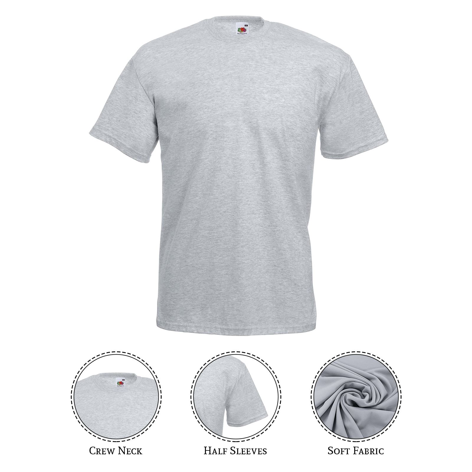 thumbnail 13 - Men-s-Fruit-Of-The-Loom-T-Shirt-Original-100-Cotton-Casual-Plain-Top-Tee