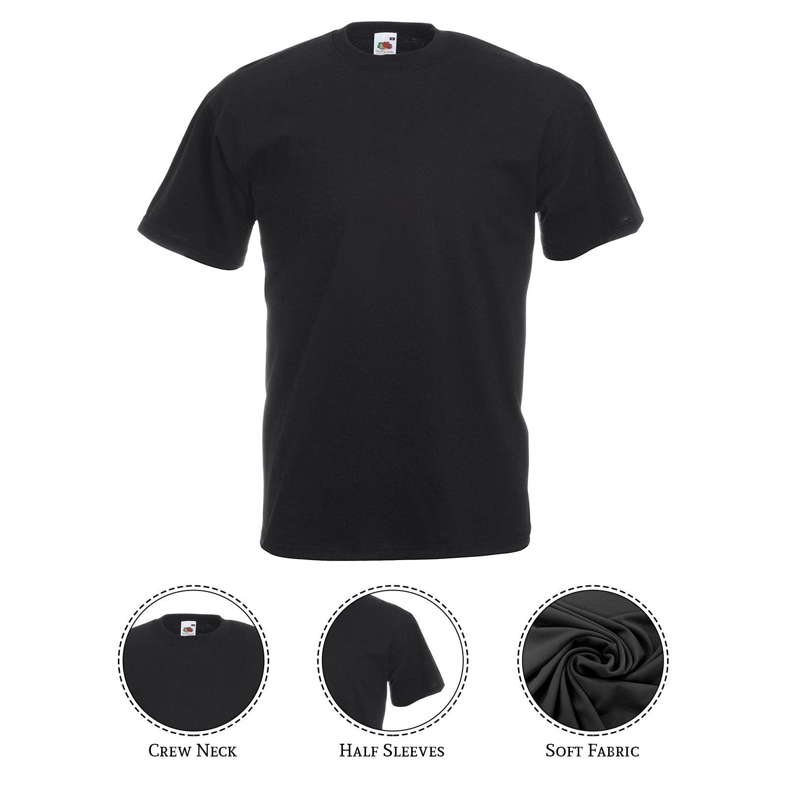 thumbnail 7 - Men-s-Fruit-Of-The-Loom-T-Shirt-Original-100-Cotton-Casual-Plain-Top-Tee