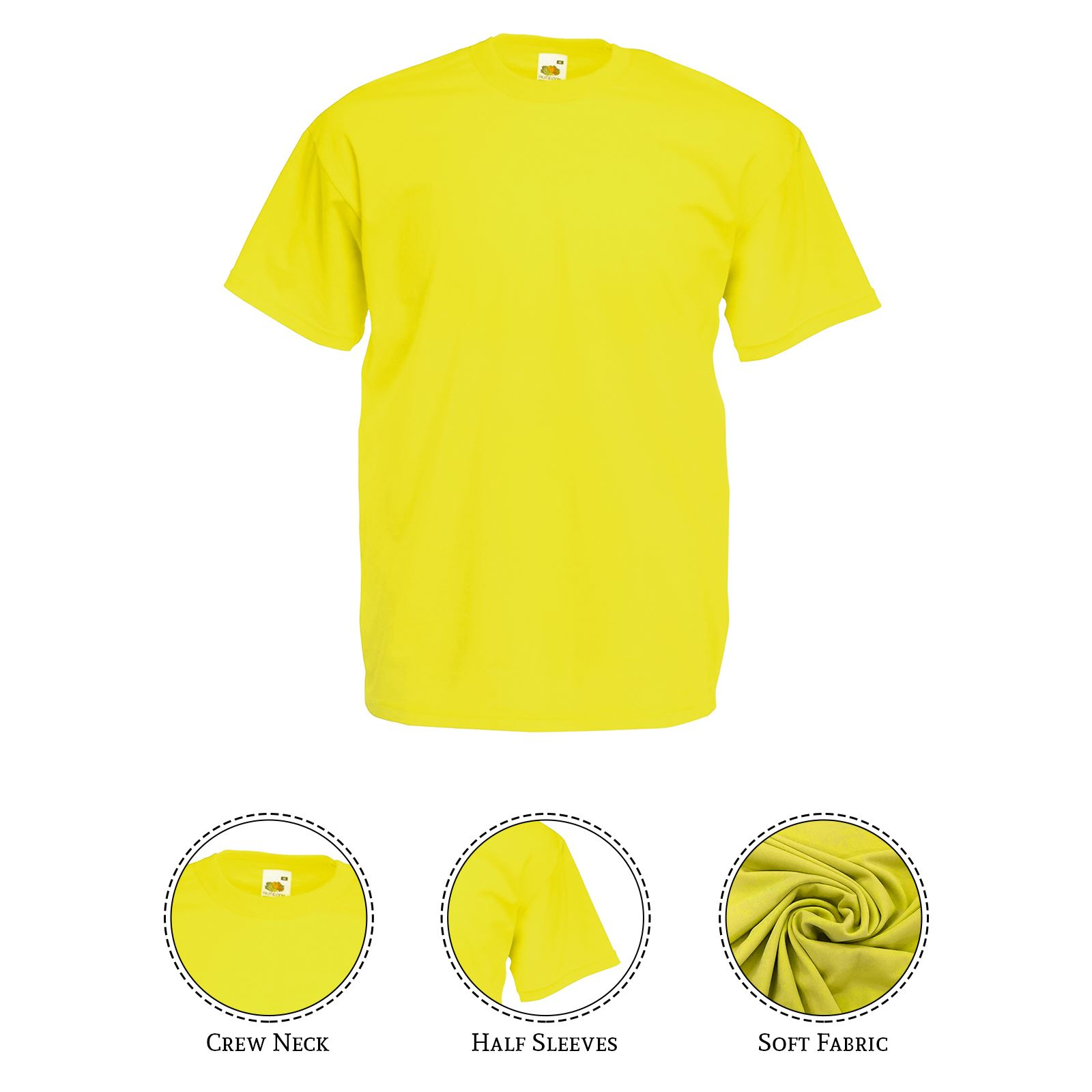 thumbnail 29 - Men-s-Fruit-Of-The-Loom-T-Shirt-Original-100-Cotton-Casual-Plain-Top-Tee