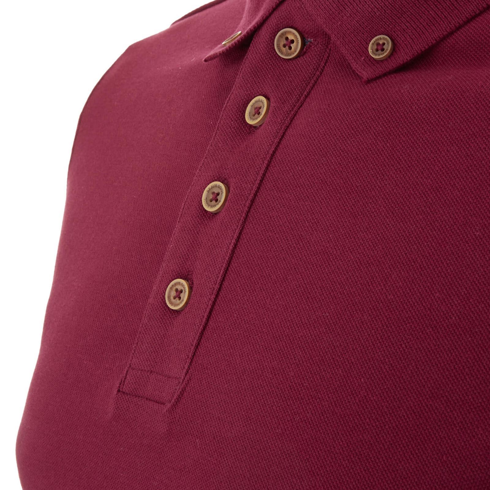 Homme-Polo-Brave-Soul-Lincoln-a-Manches-Longues-A-Col-Coton-Pique-Haut-Decontracte-Chemise miniature 25