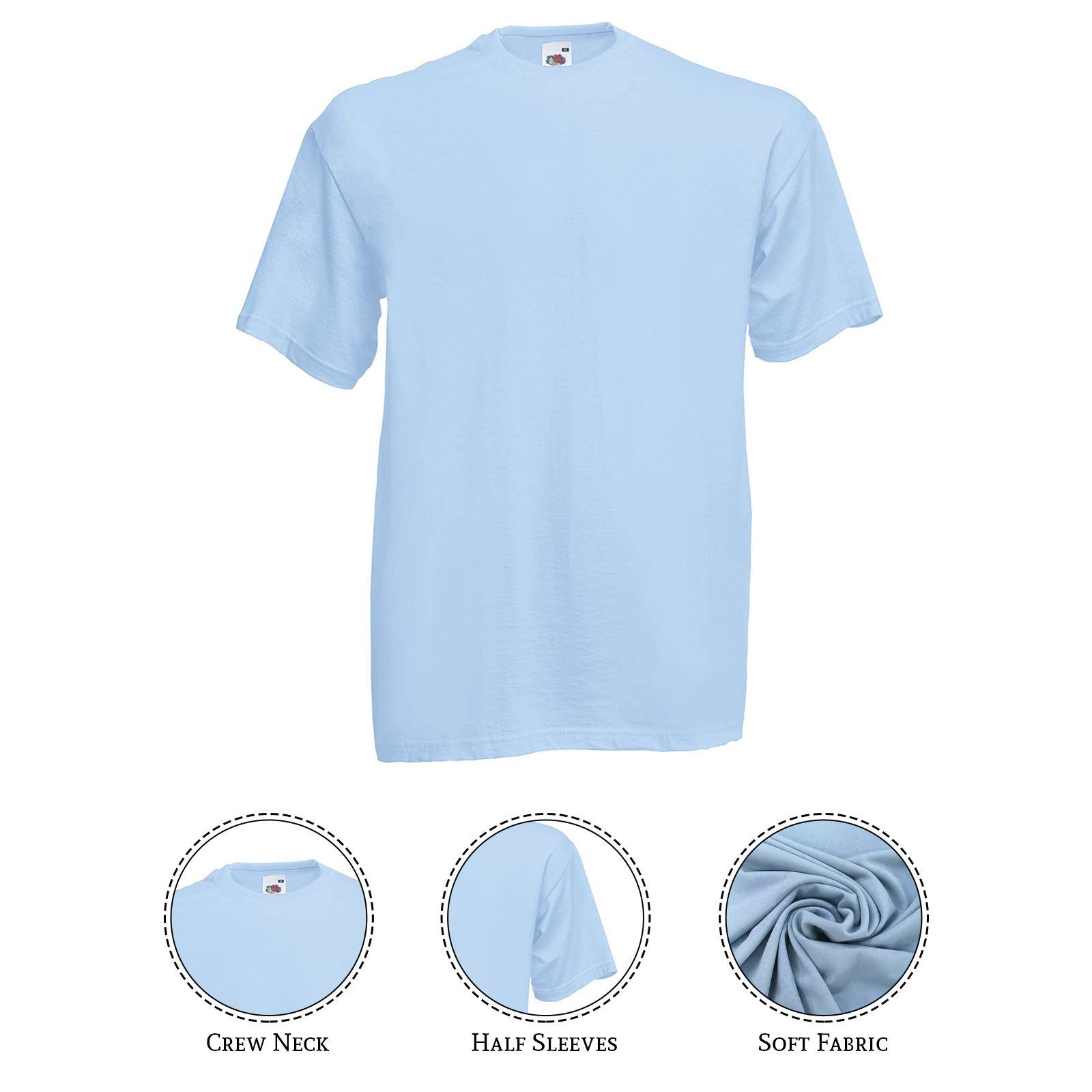 thumbnail 9 - Men-s-Fruit-Of-The-Loom-T-Shirt-Original-100-Cotton-Casual-Plain-Top-Tee