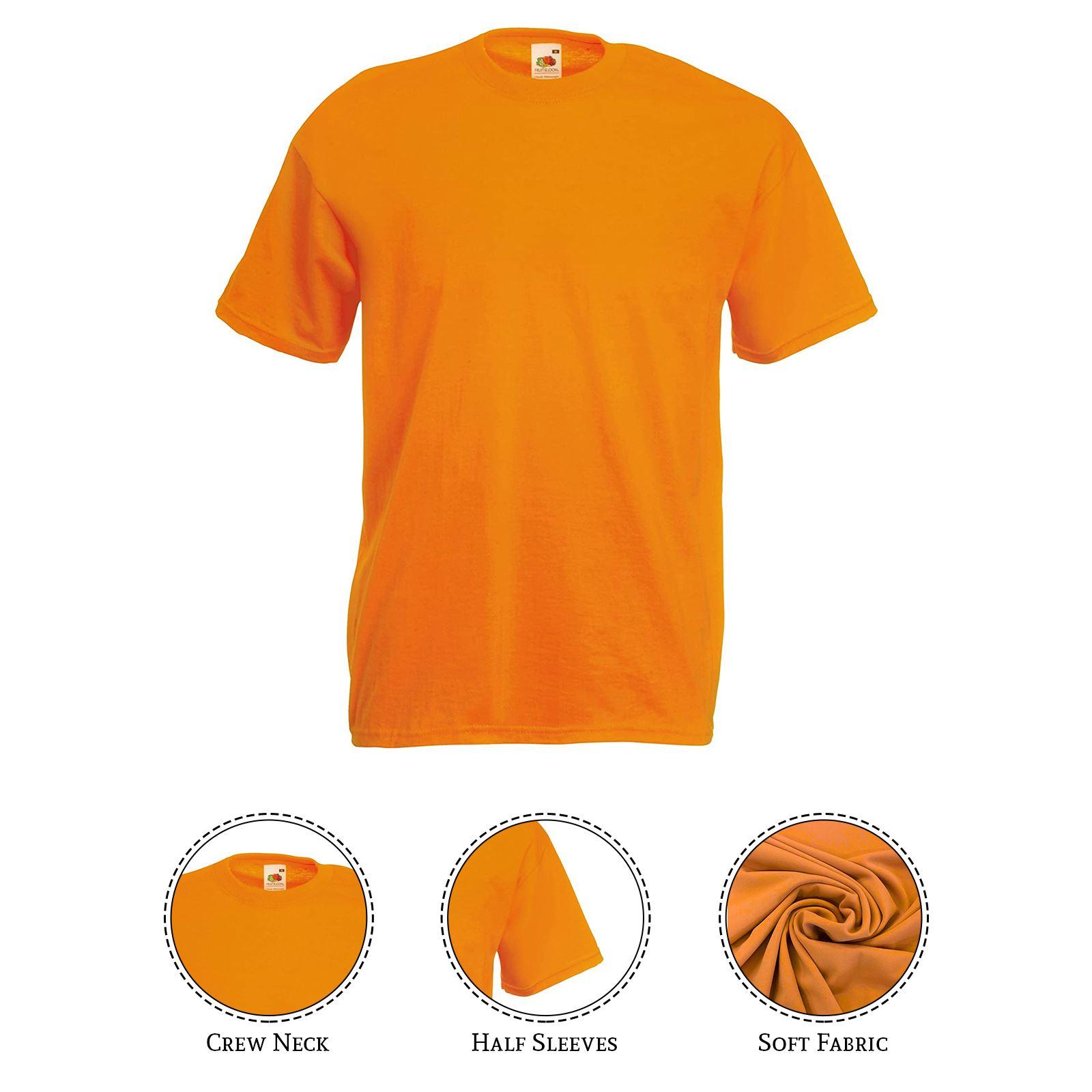 thumbnail 3 - Men-s-Fruit-Of-The-Loom-T-Shirt-Original-100-Cotton-Casual-Plain-Top-Tee