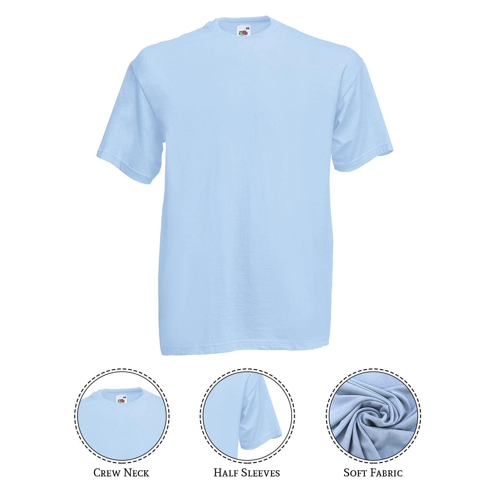thumbnail 25 - Men-s-Fruit-Of-The-Loom-T-Shirt-Original-100-Cotton-Casual-Plain-Top-Tee