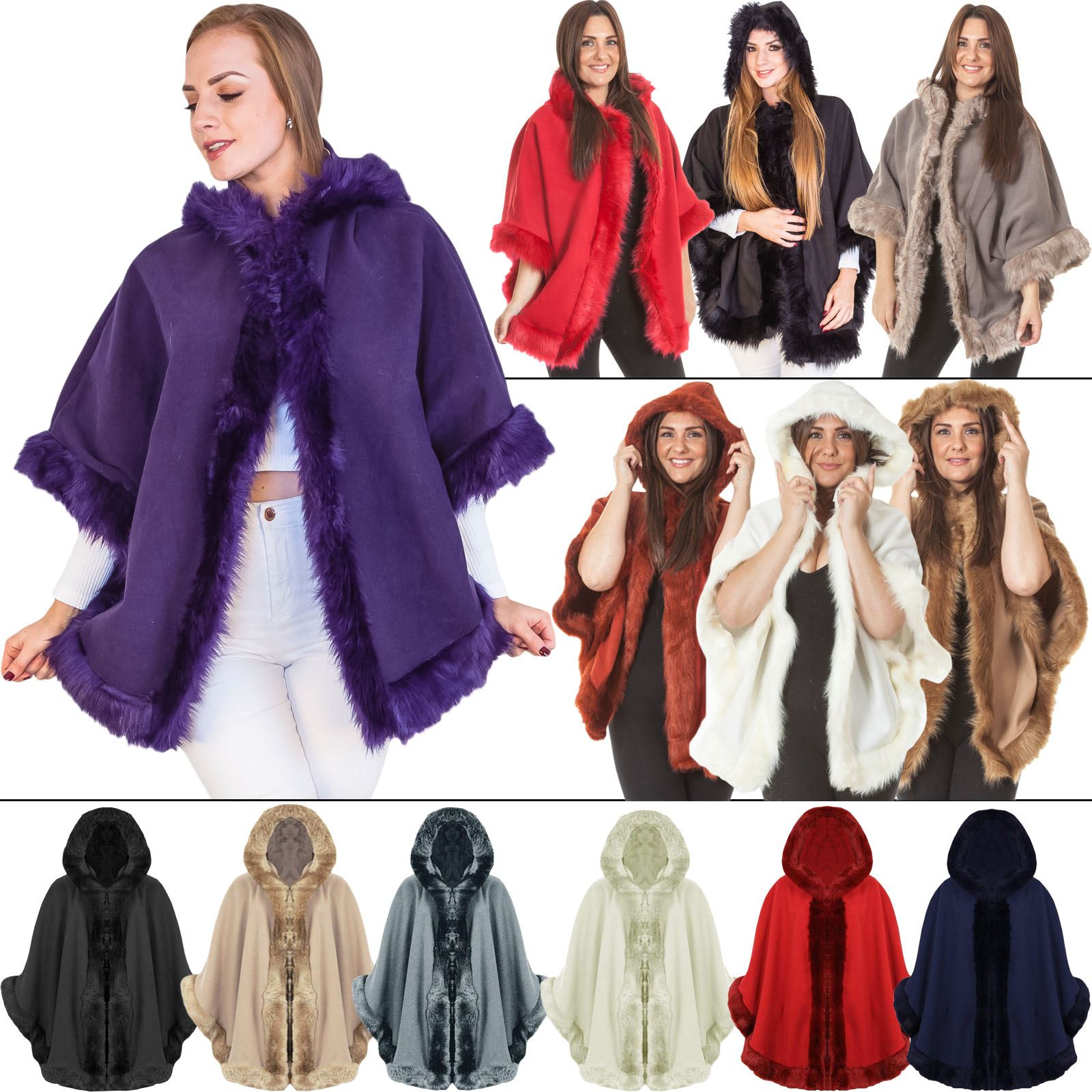 Ladies Winter Parka Hooded Jacket Womans Designer Warm Lush Fur Designer Coat
