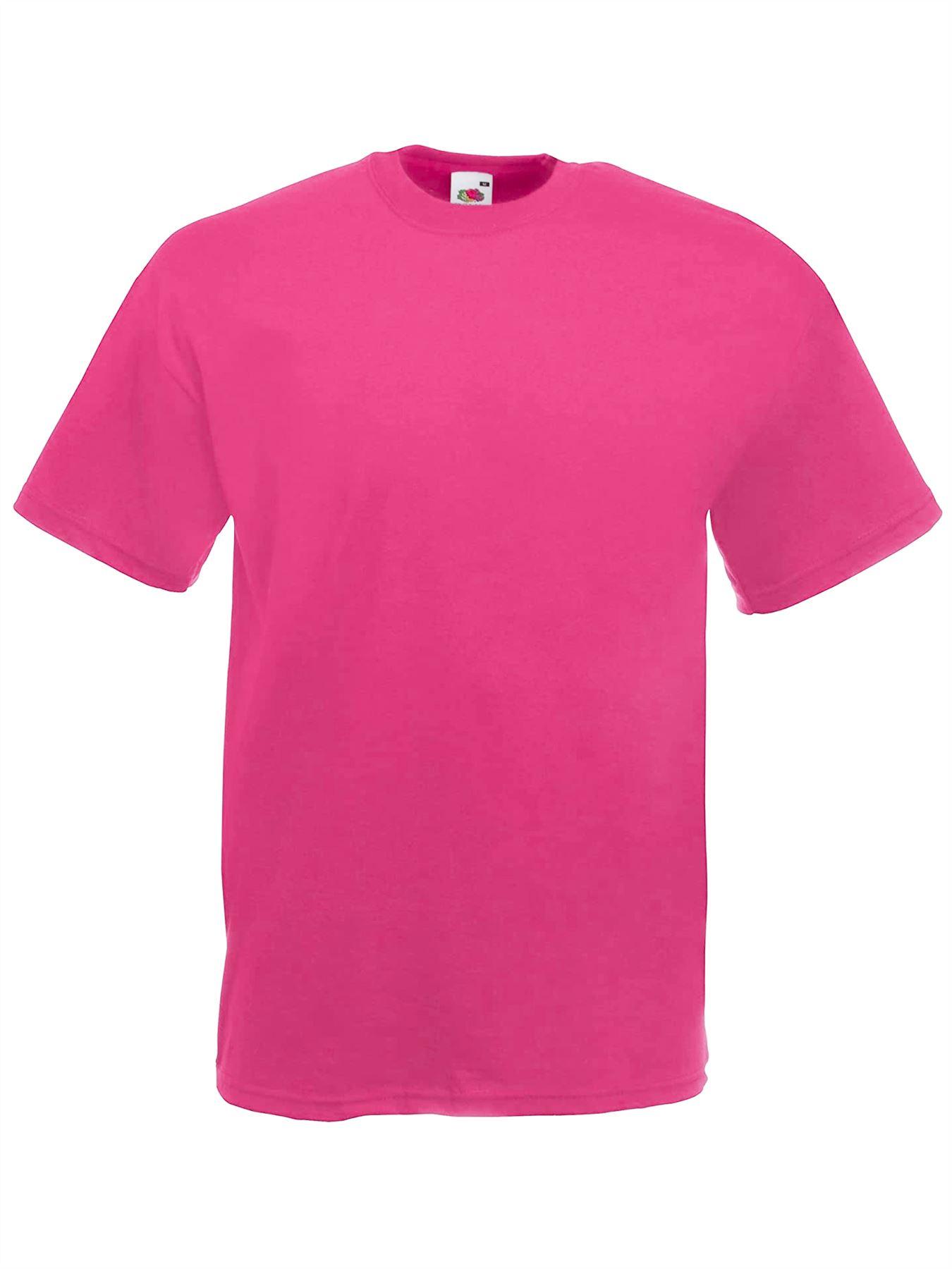 thumbnail 17 - Men-s-Fruit-Of-The-Loom-T-Shirt-Original-100-Cotton-Casual-Plain-Top-Tee