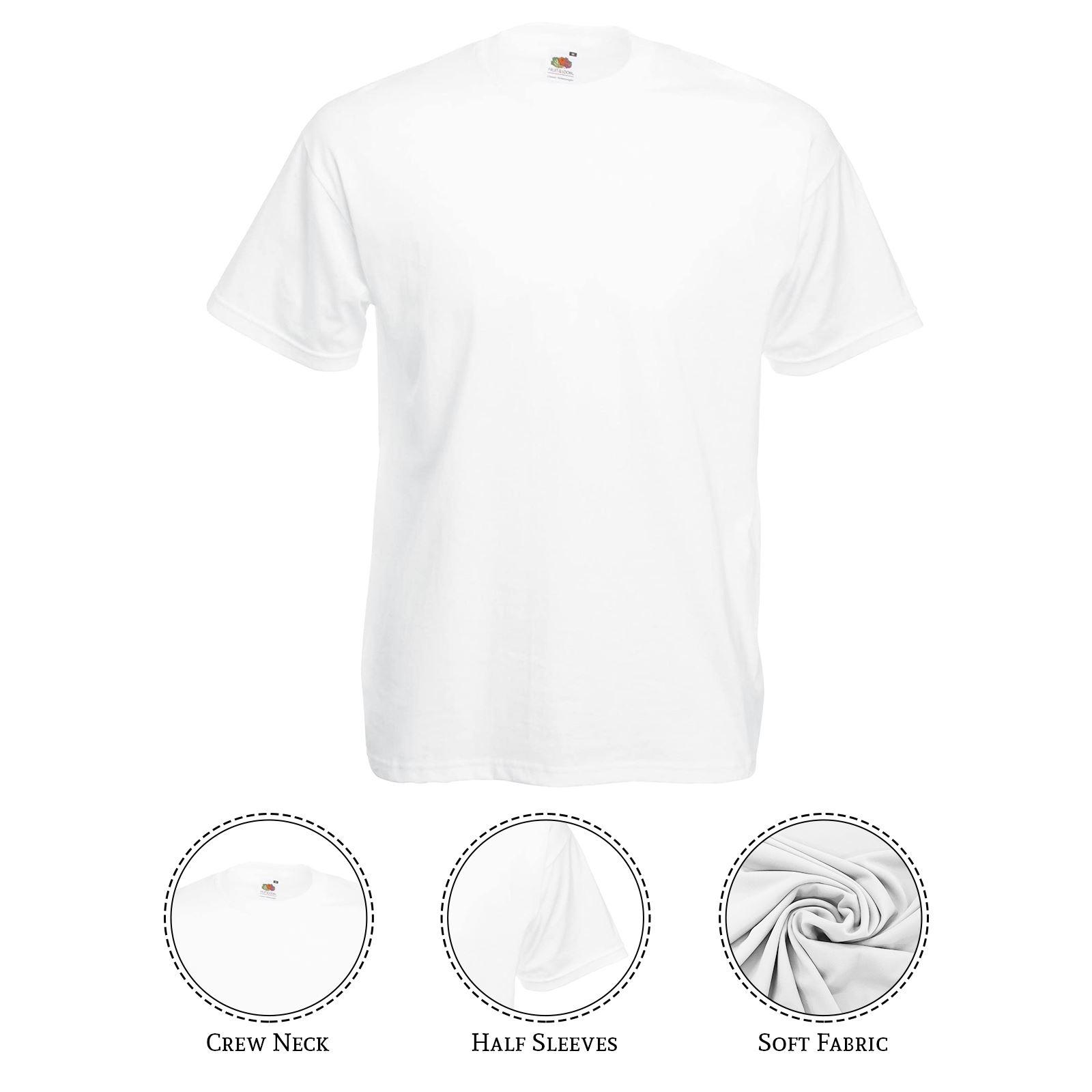 thumbnail 45 - Men-s-Fruit-Of-The-Loom-T-Shirt-Original-100-Cotton-Casual-Plain-Top-Tee