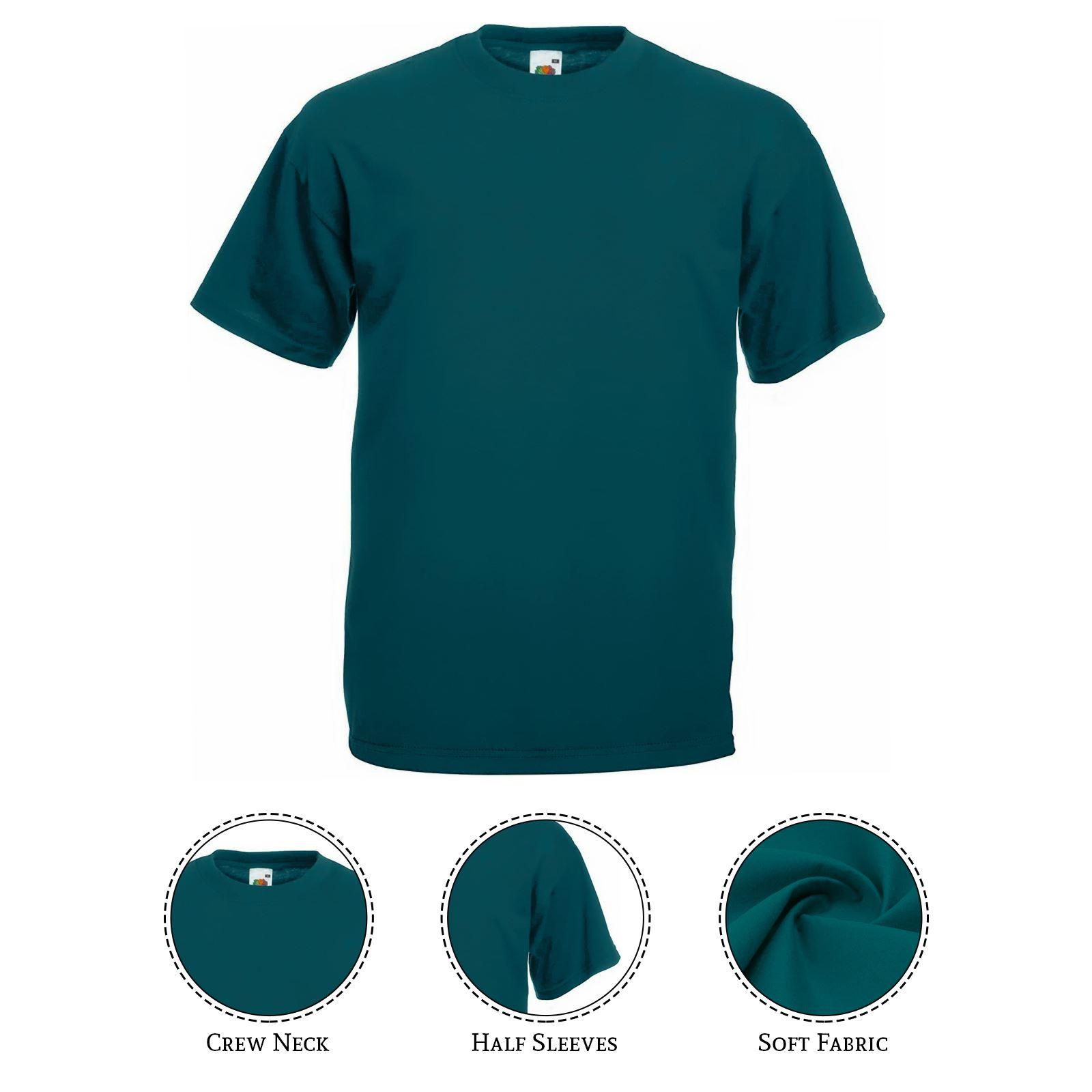 thumbnail 41 - Men-s-Fruit-Of-The-Loom-T-Shirt-Original-100-Cotton-Casual-Plain-Top-Tee