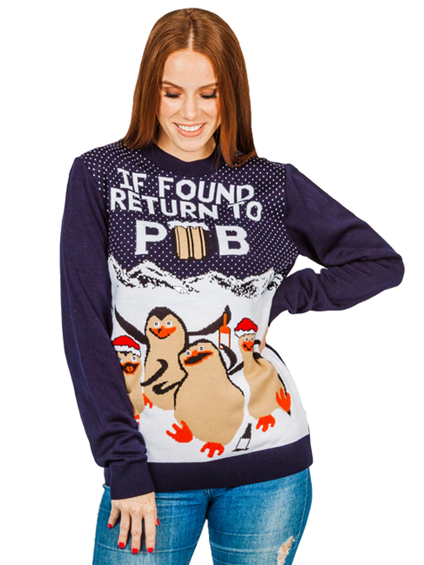 Unisex-Christmas-Jumper-Ladies-Xmas-Snowman-Reindeer-Pub-Knitted-Party-Sweater