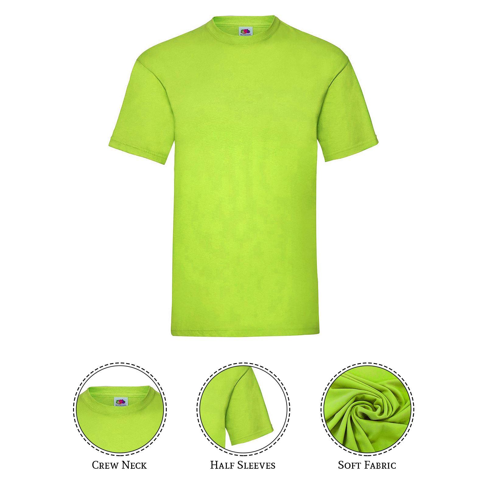 thumbnail 27 - Men-s-Fruit-Of-The-Loom-T-Shirt-Original-100-Cotton-Casual-Plain-Top-Tee