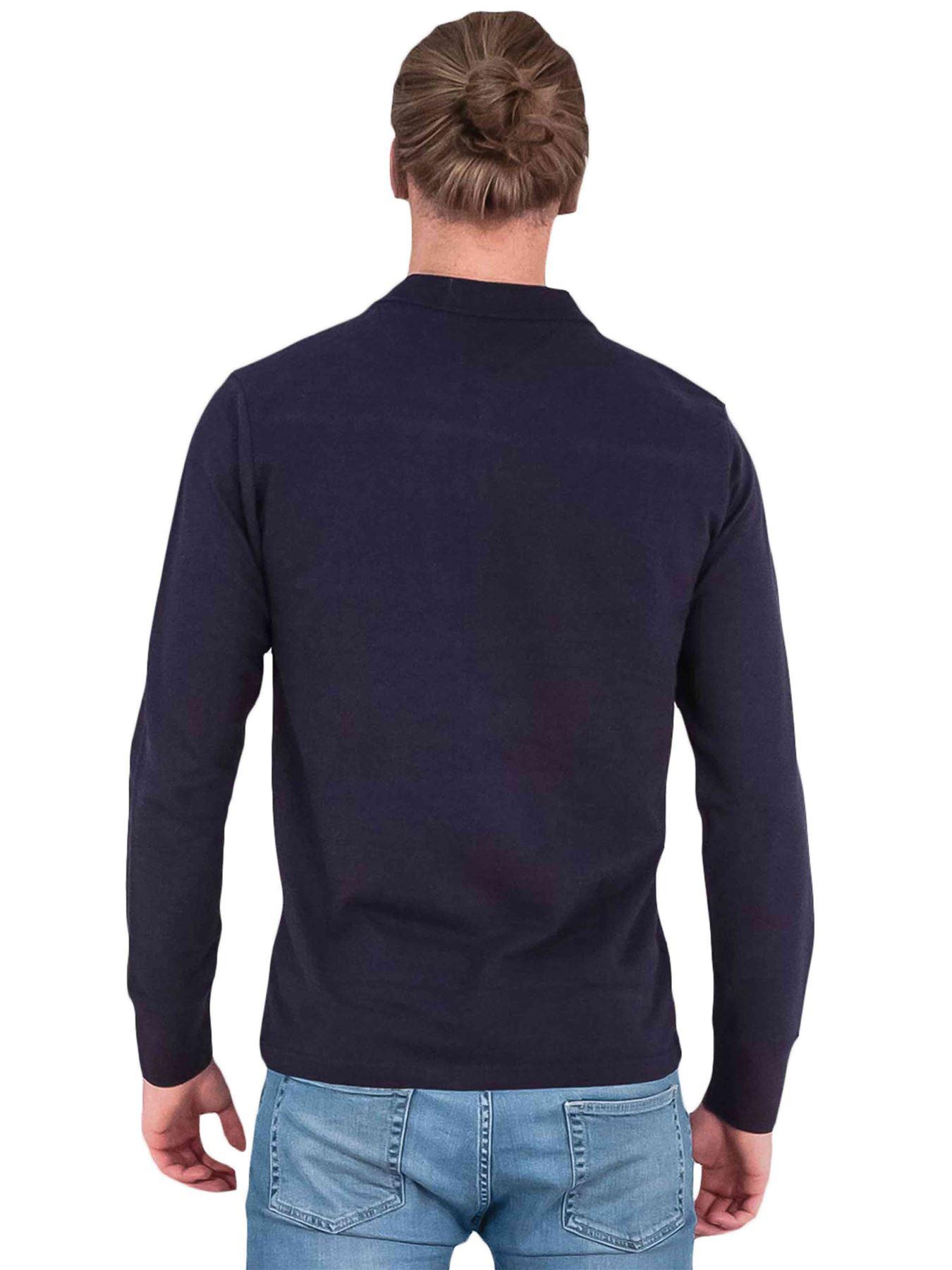 Homme-Polo-Brave-Soul-Lincoln-a-Manches-Longues-A-Col-Coton-Pique-Haut-Decontracte-Chemise miniature 10