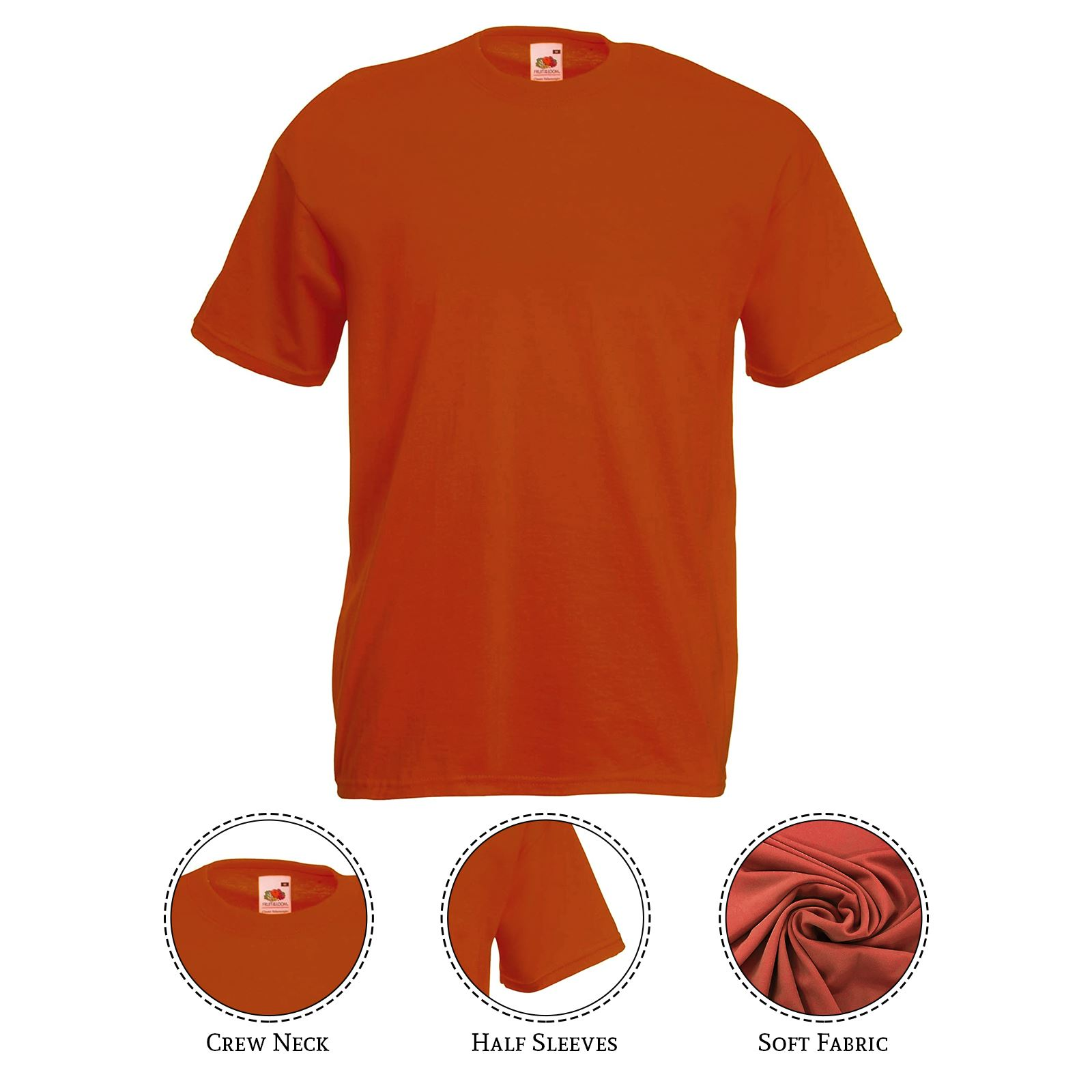 thumbnail 37 - Men-s-Fruit-Of-The-Loom-T-Shirt-Original-100-Cotton-Casual-Plain-Top-Tee
