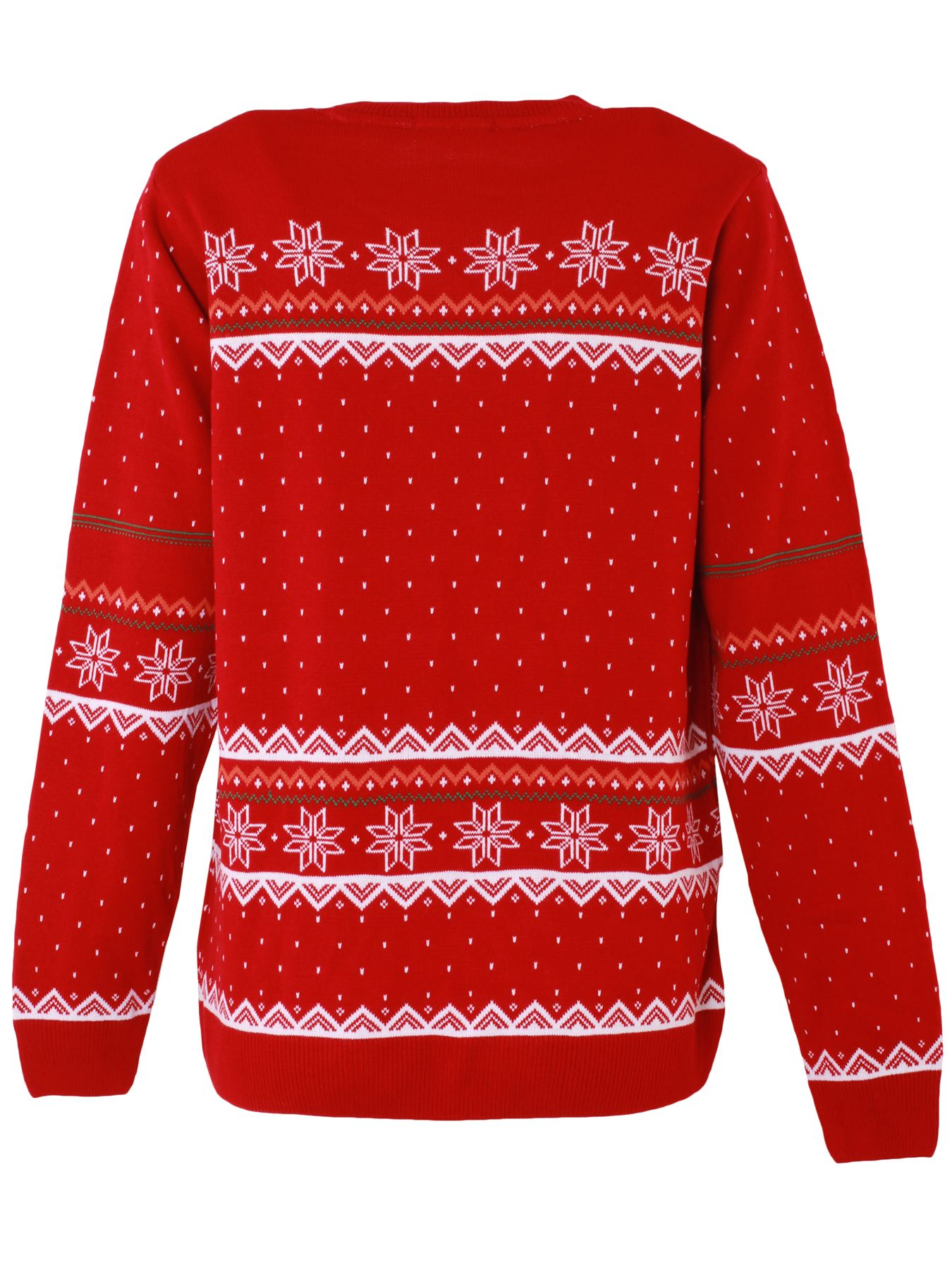 Unisex-Christmas-Jumper-Girls-Boys-Reindeer-Snow-Flake-Knitted-Pullover-Sweater thumbnail 7