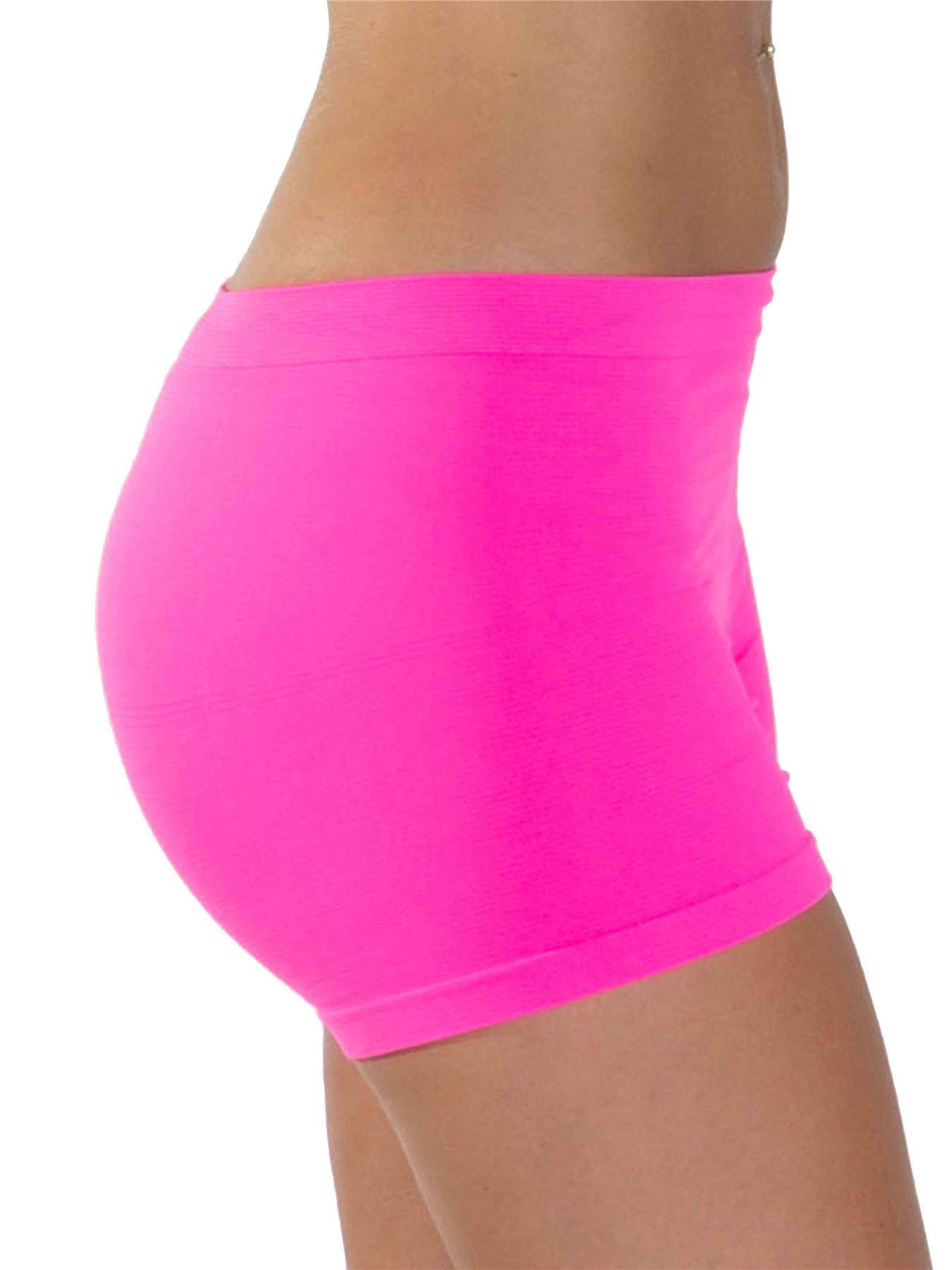 1dd48f8a16fb Womens Underwear Plain High Waist Seamless Stretch Ladies Boxer ...