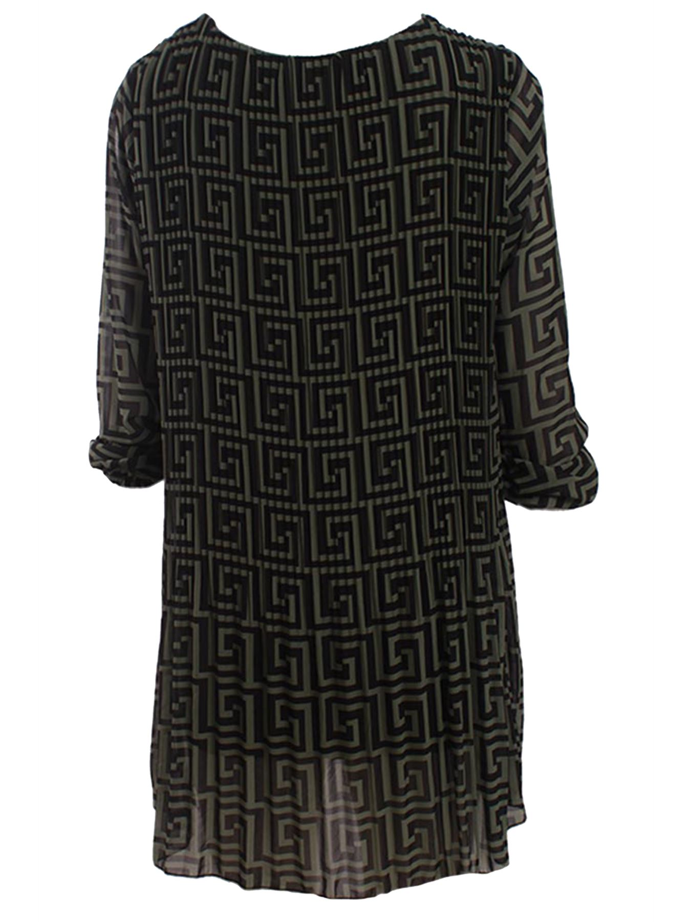 Womens Italian Lagenlook Tunic Top Baggy Loose Fit Cotton Summer Ladies Dress