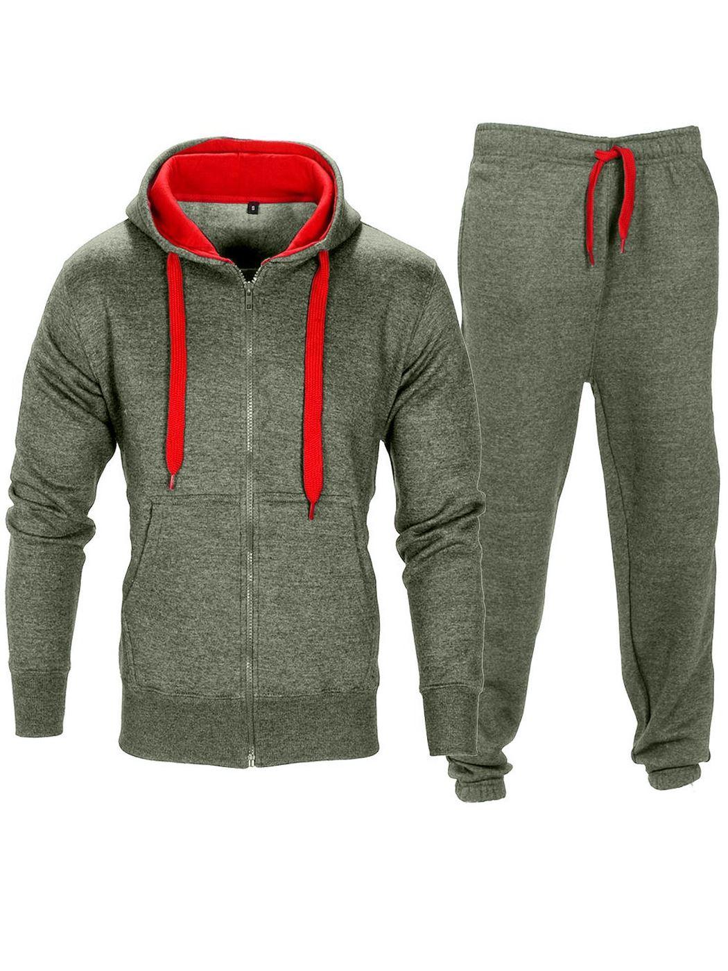 New Mens Tracksuit Set Full Top Bottoms Fleece Jogging Joggers Pullover Jumper