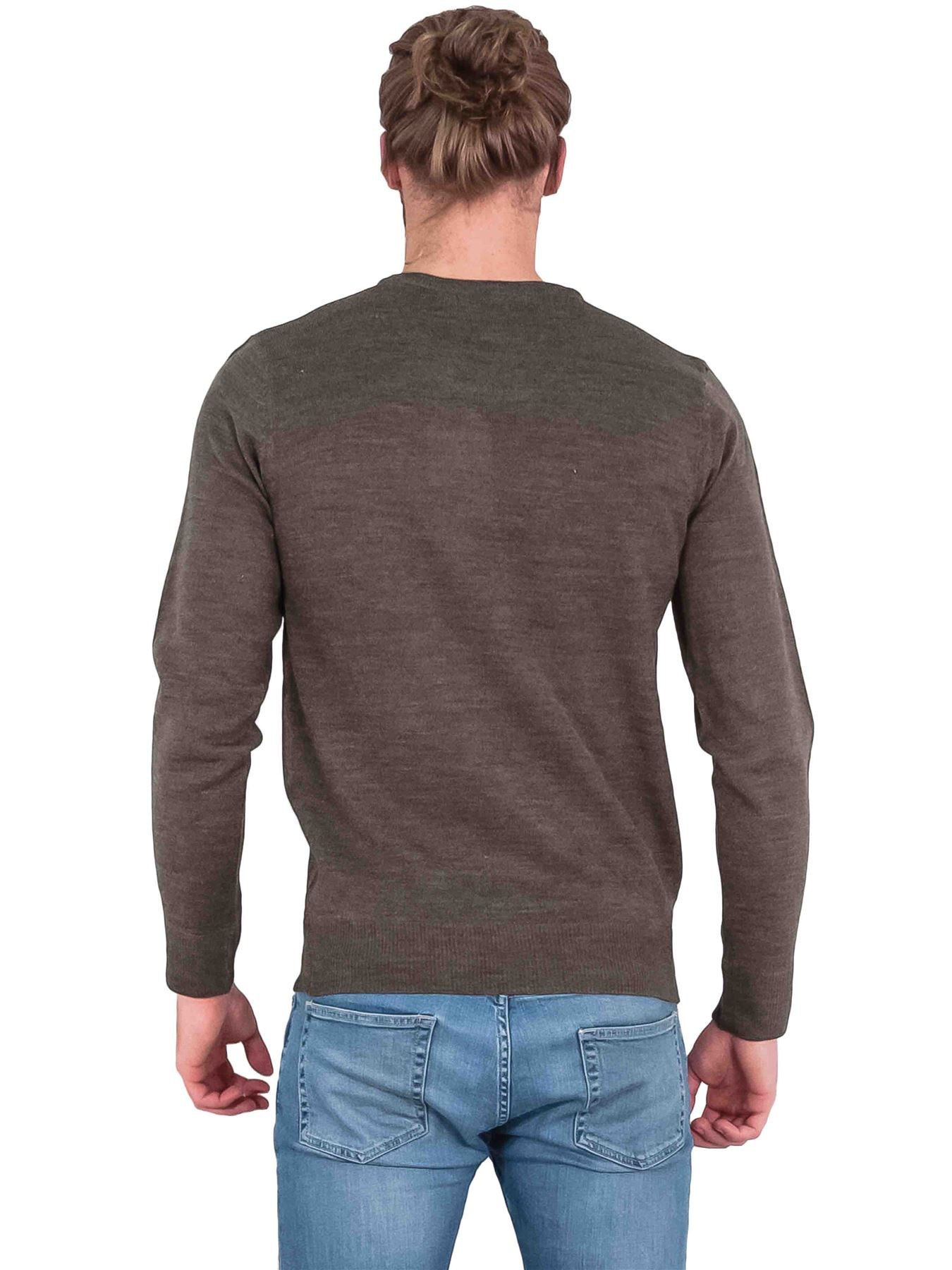 Mens Jumper Sweat Shirt Knitted V-Neck Pullover Casual Brave Soul Warm Winter L