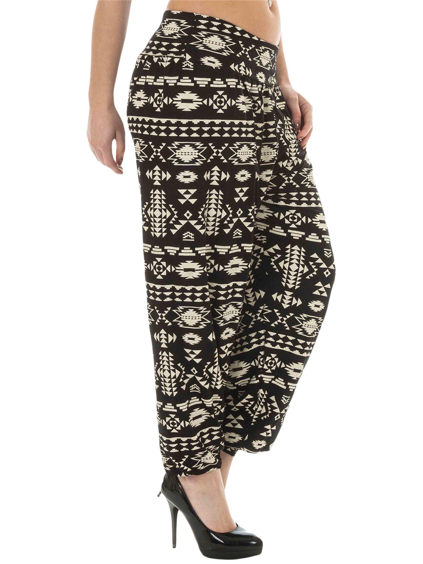 Neuf Plus Taille Harem Imprimé pour Femme Pantalon Long Full Baggy Femme Pantalon 12-26