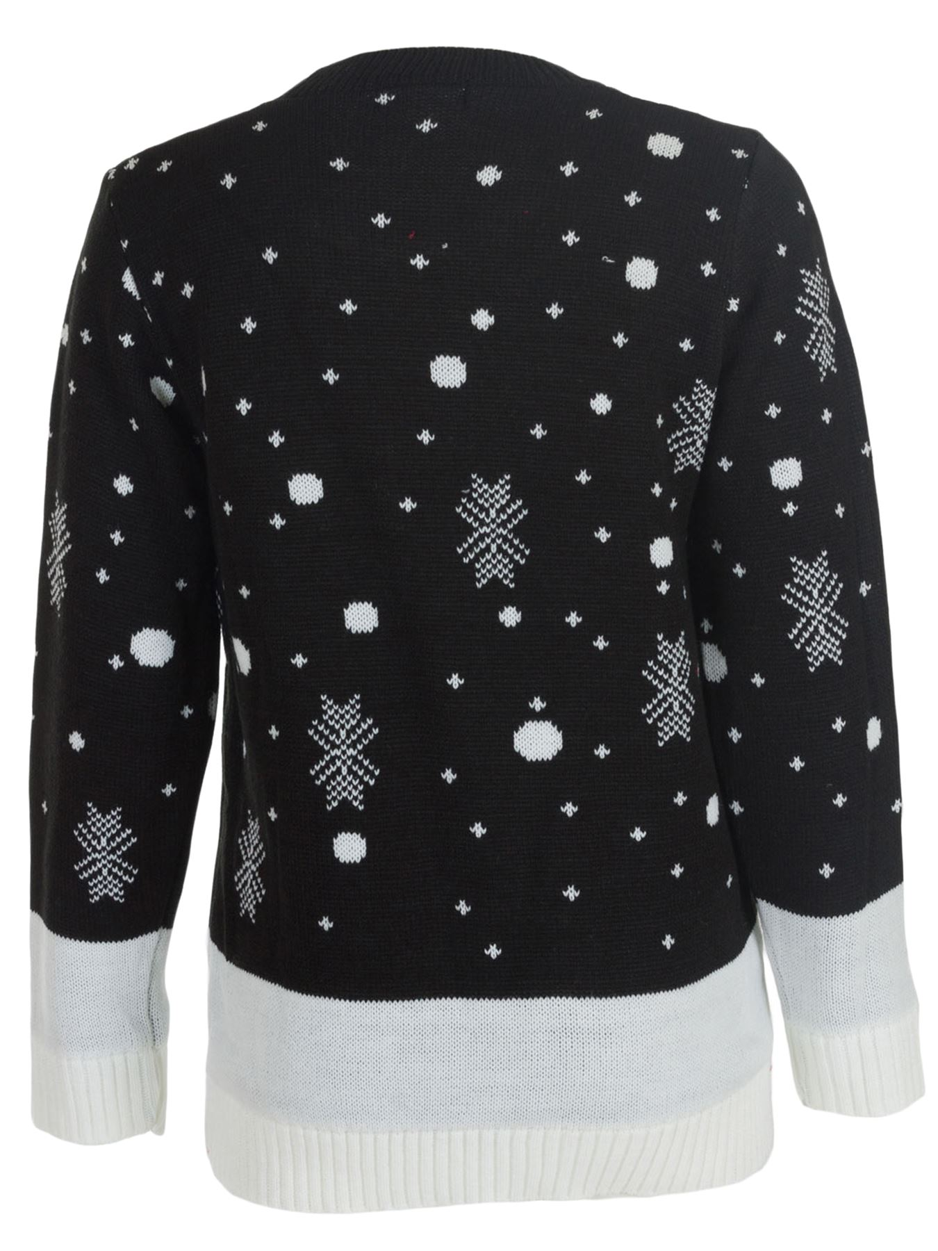 Unisex Christmas Jumper Kids Girl Knitted Party Sweater Smiling Rudolph Reindeer
