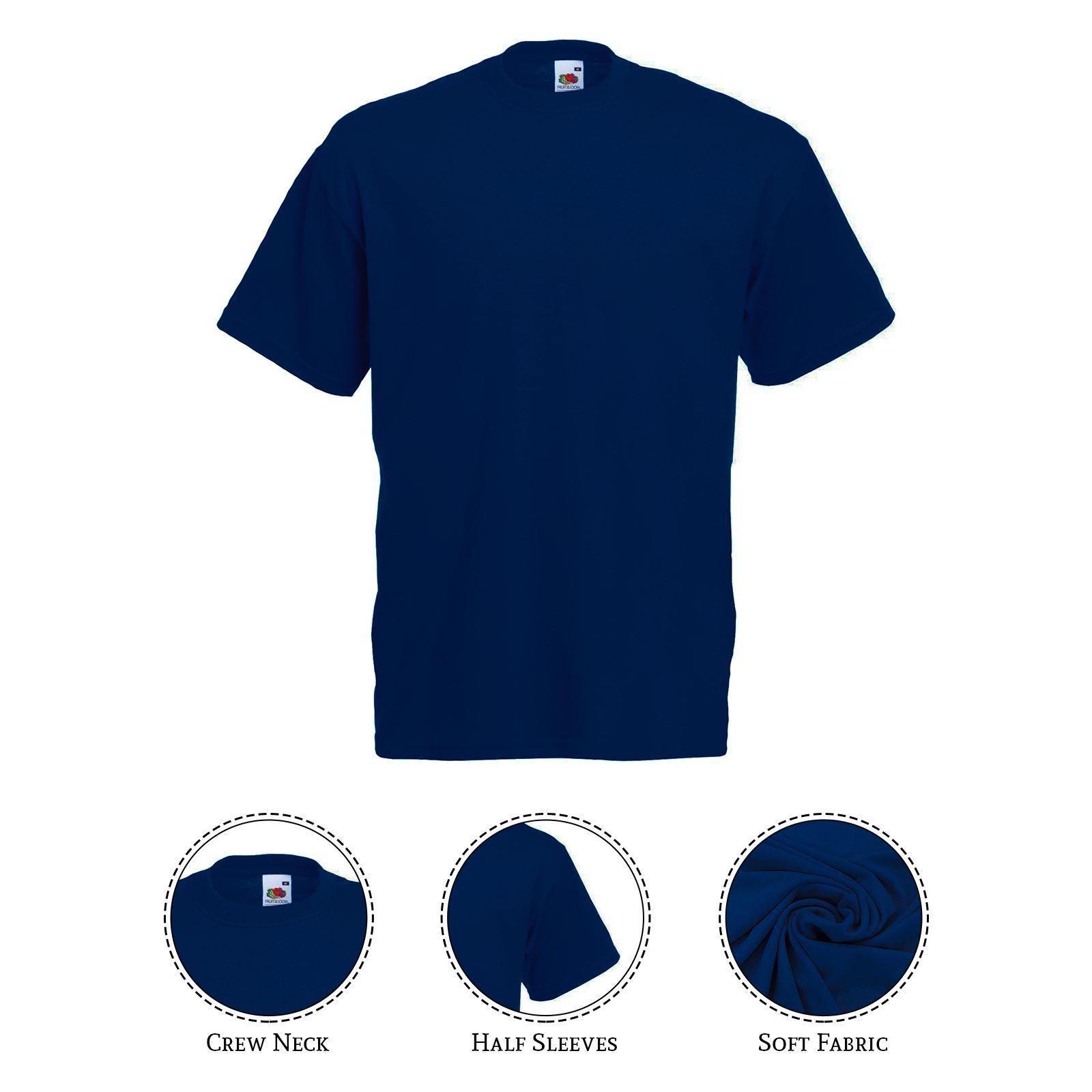 thumbnail 19 - Men-s-Fruit-Of-The-Loom-T-Shirt-Original-100-Cotton-Casual-Plain-Top-Tee