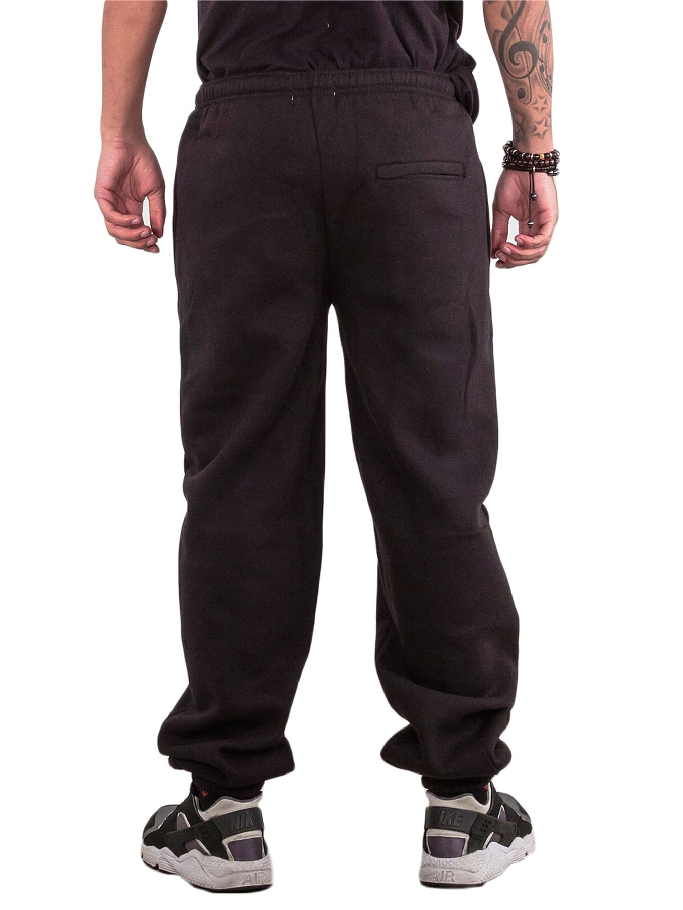 Mens-Fleece-Ribbed-Joggers-Tracksuit-Jogging-Bottom-Loose-Fit-Sweat-Pants-S-5XL thumbnail 4
