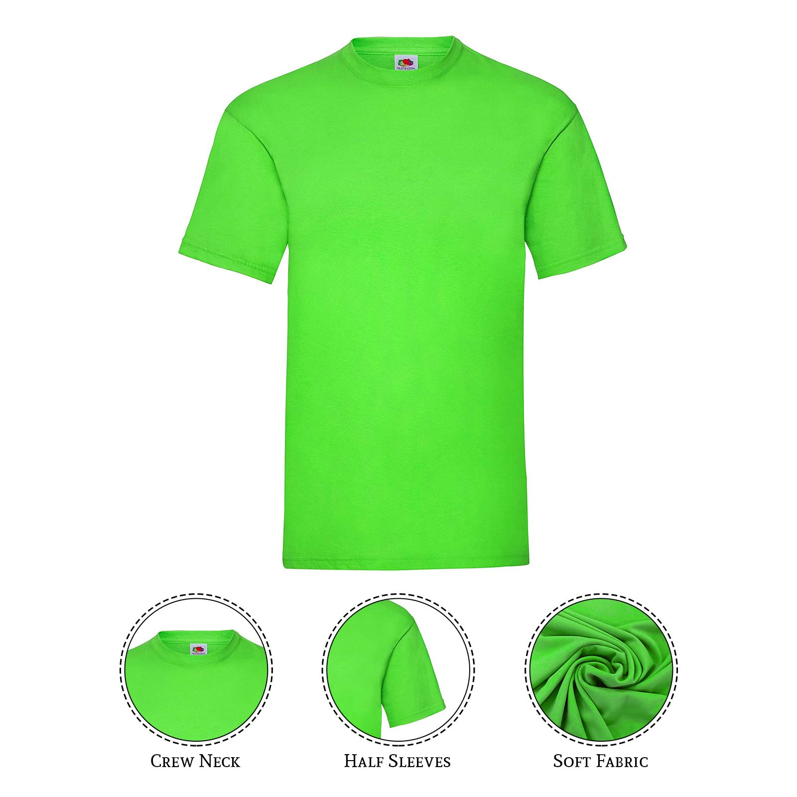 thumbnail 21 - Men-s-Fruit-Of-The-Loom-T-Shirt-Original-100-Cotton-Casual-Plain-Top-Tee