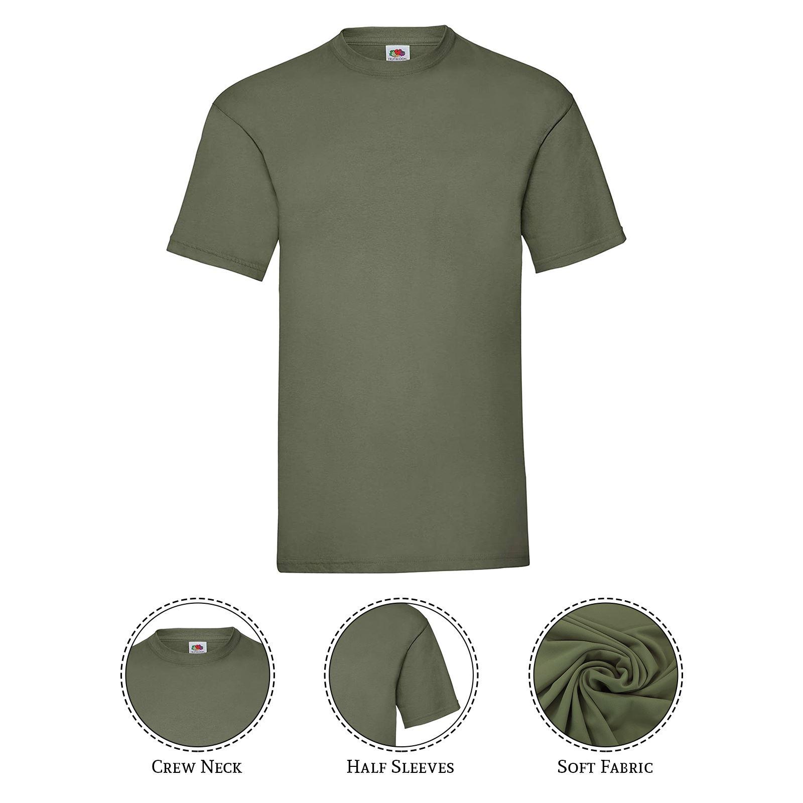 thumbnail 15 - Men-s-Fruit-Of-The-Loom-T-Shirt-Original-100-Cotton-Casual-Plain-Top-Tee