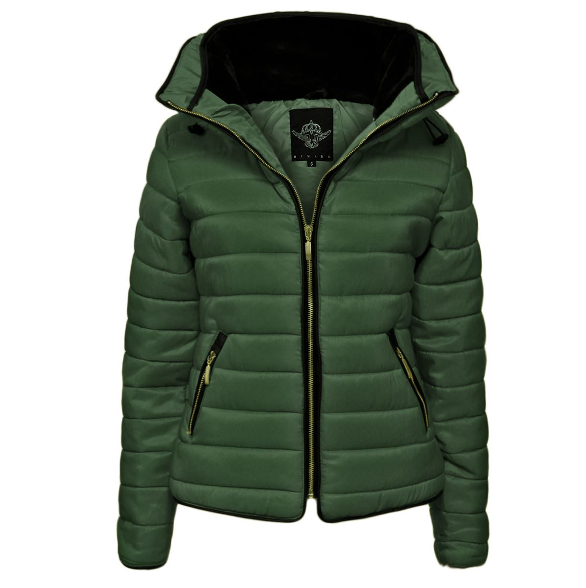 Ladies-Womens-Puffer-Padded-Jacket