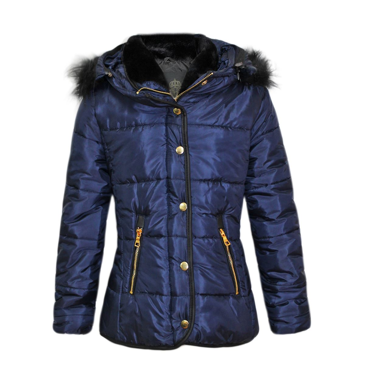 5aaf0e164 Clearance Kids Puffer Quilted Childrens Faux Fur Girls Padded Bubble ...