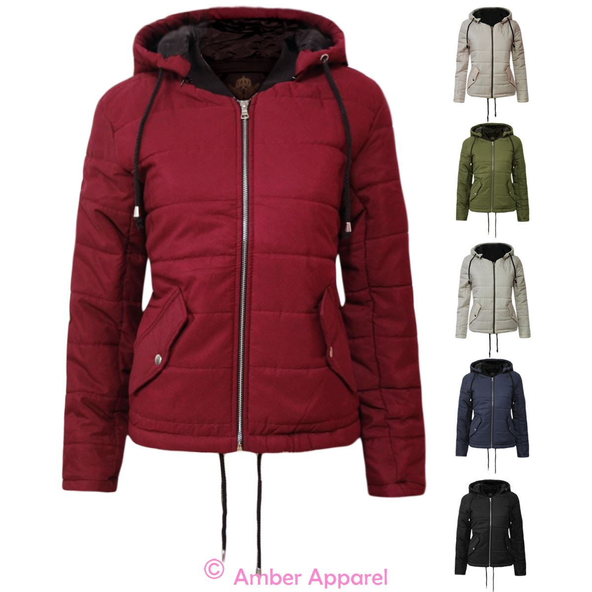 hot-selling cheap complimentary shipping 2019 hot sale Details about Womens Puffer Cropped Quilted Padded Puffa Ladies Bubble  Hooded Zip Coat Jacket