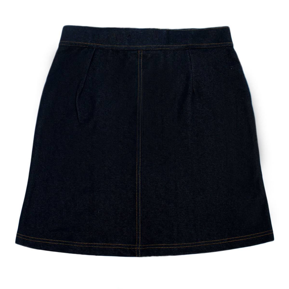Clearance-New-Women-Ladies-Rich-Jean-Front-Buttoned-A-Line-Mini-Skirt
