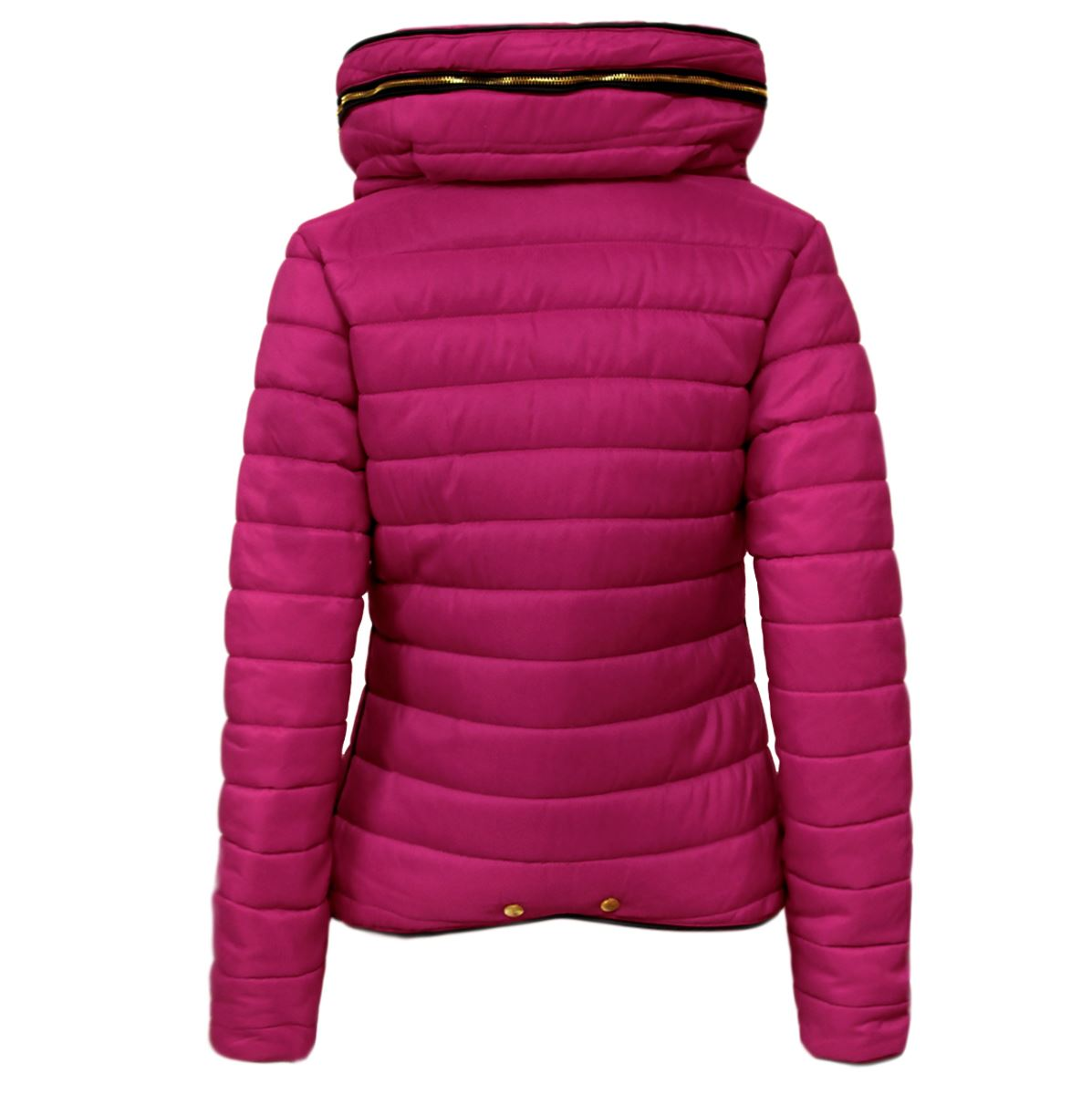 fbe953d764f New Ladies Womens Quilted Padded Puffer Bubble Fur Collar Warm Thick ...