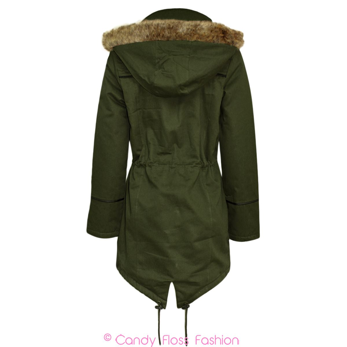 Clearance-Womens-Ladies-Fur-Hooded-Oversized-Trench-Fishtail-Parka-Jacket-Coat