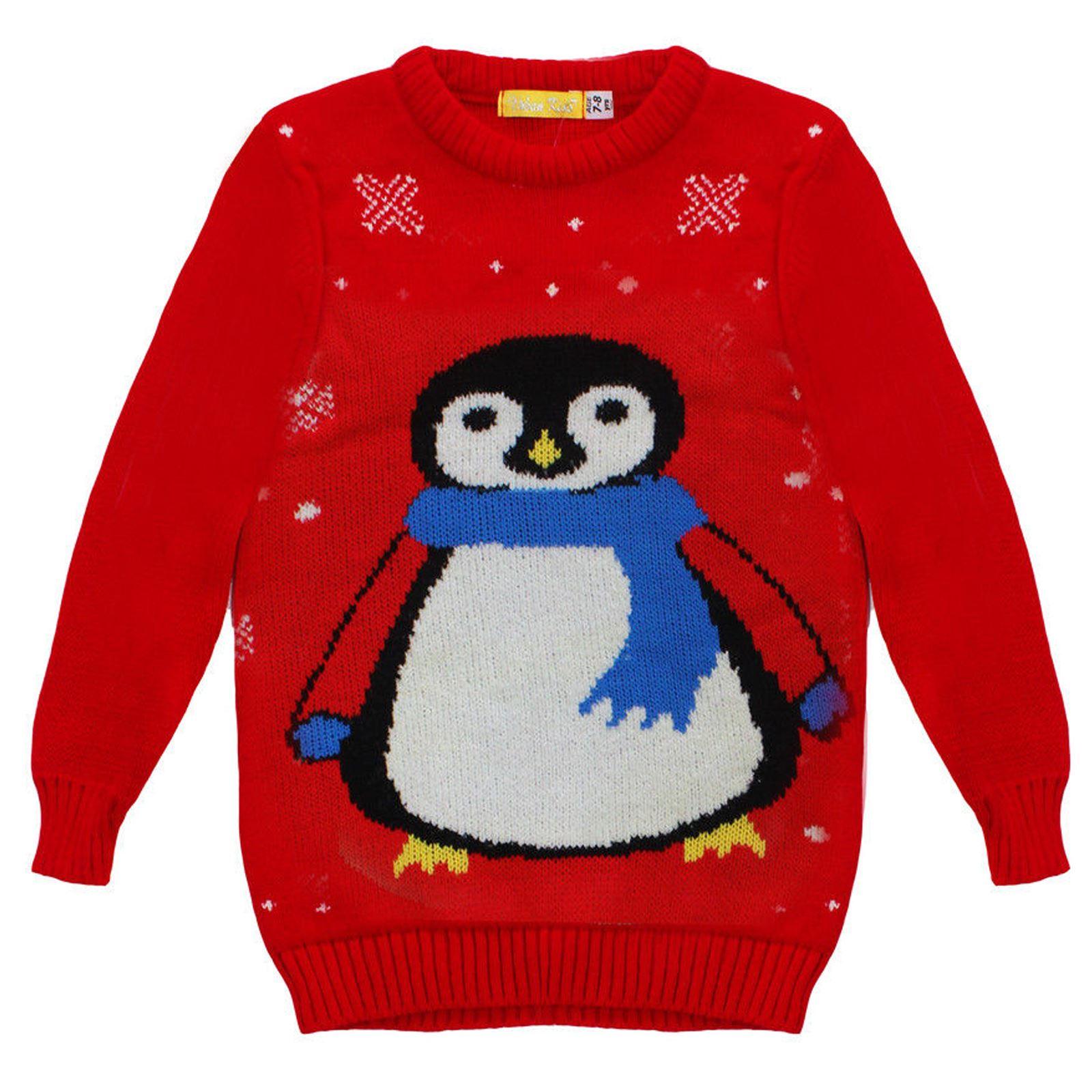 new childrens kids winter junior xmas penguin snowman. Black Bedroom Furniture Sets. Home Design Ideas