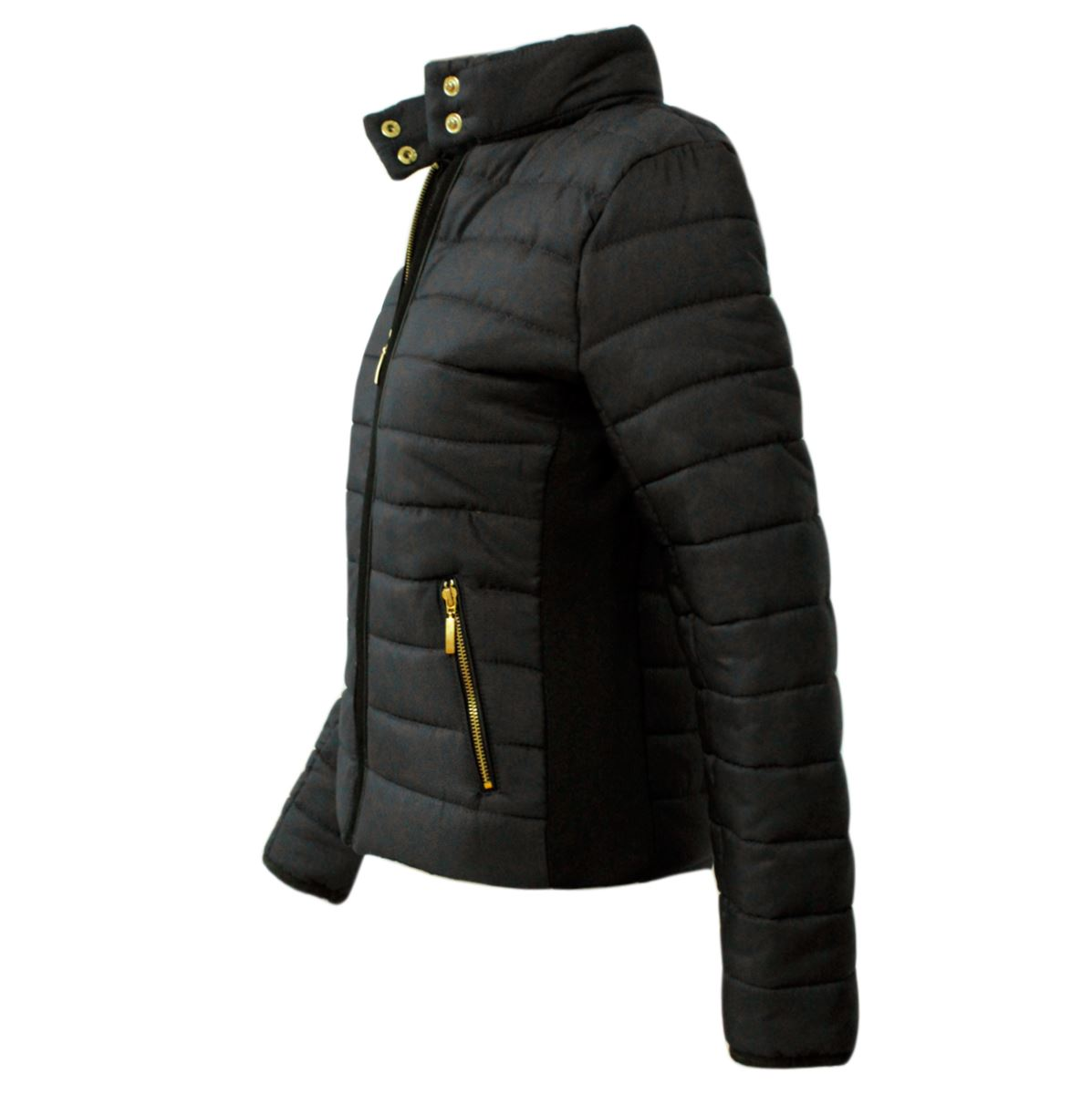 TaDa Ladies Smart Quality Thick Bomber Quilted Padded Puffer Jacket ... 6566c7d041