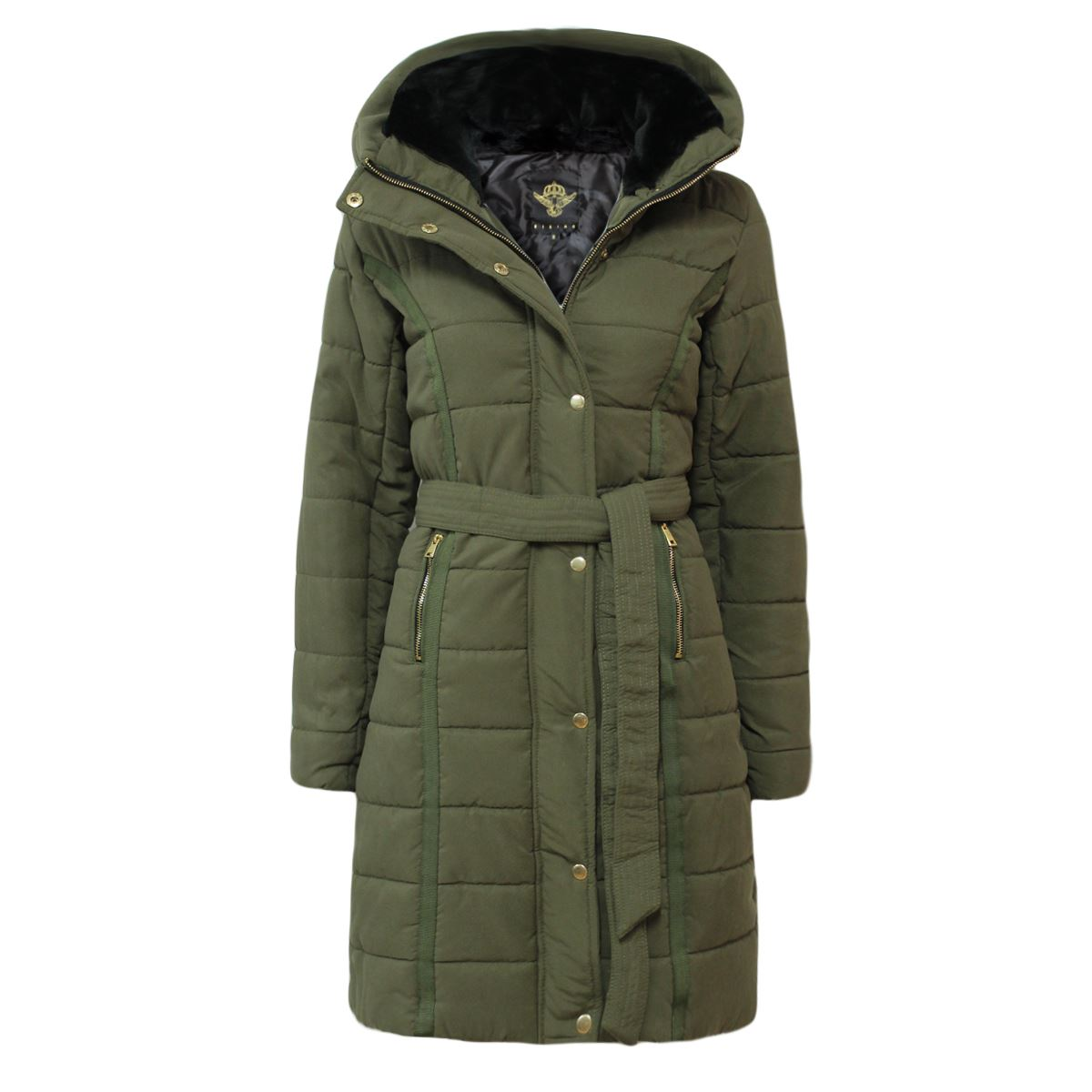 Womens long puffer jacket