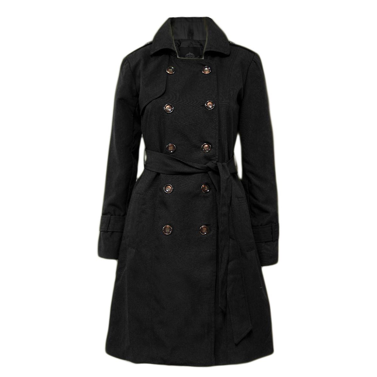 Nouveau Haut Coat Trench Bouton Femmes MAC double breasted Belted Coat Haut d09a20