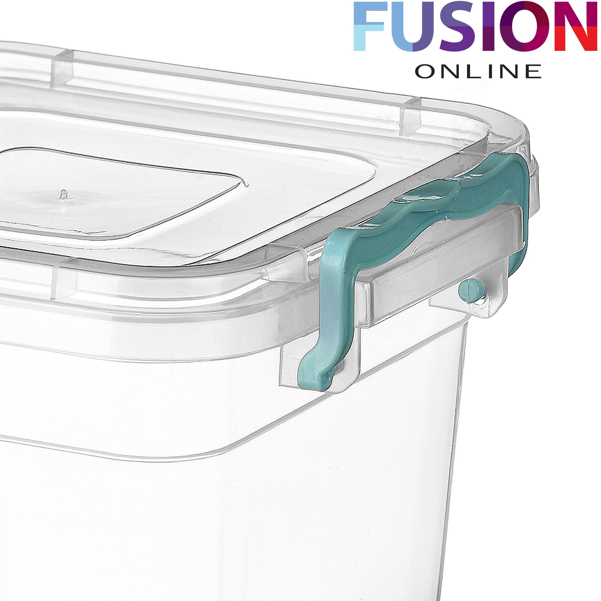 Plastic Storage Box Clear Boxes With Lids Clip Locking Food Home