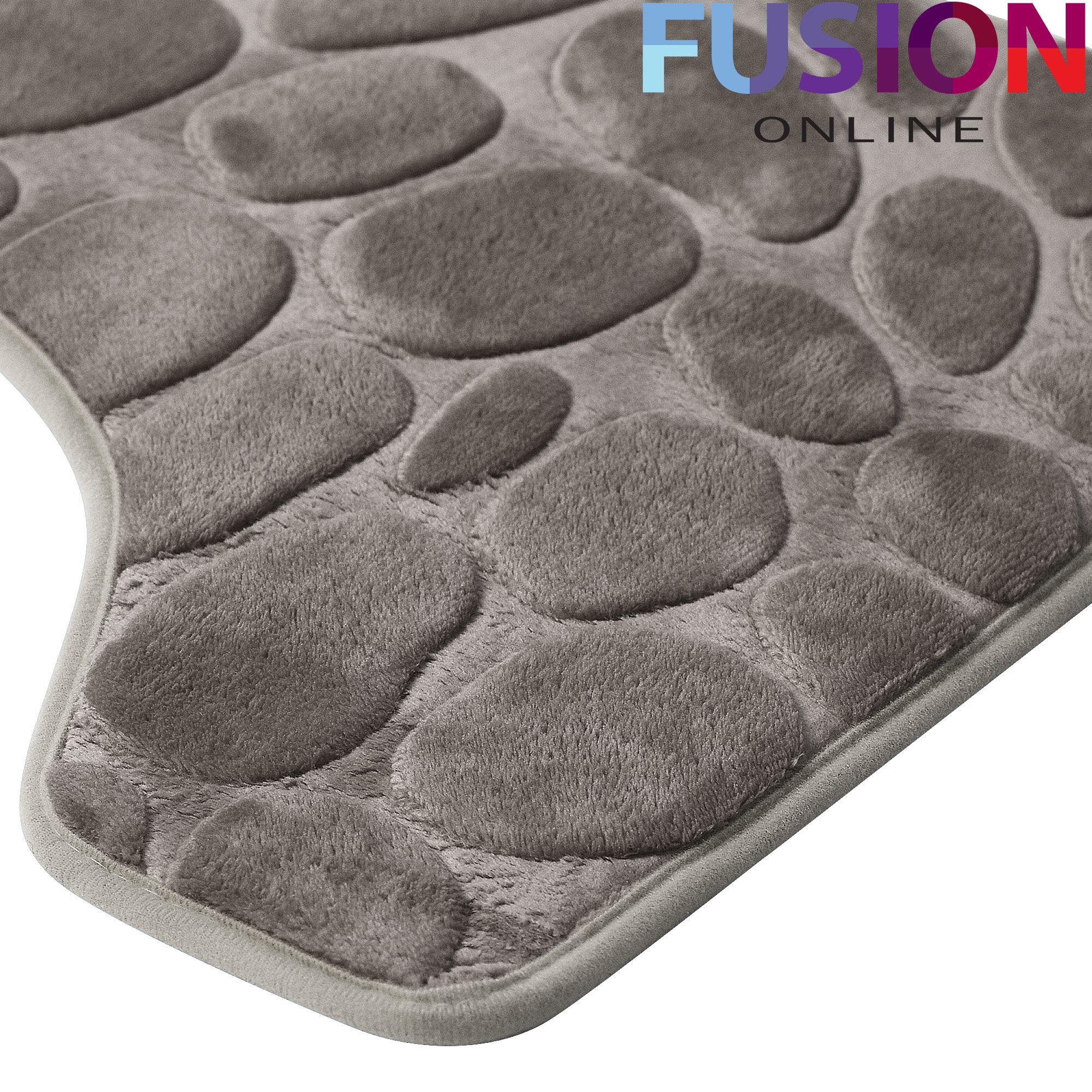 Pebbles Memory Foam Bath Amp Pedestal Mat Sets Non Slip Soft